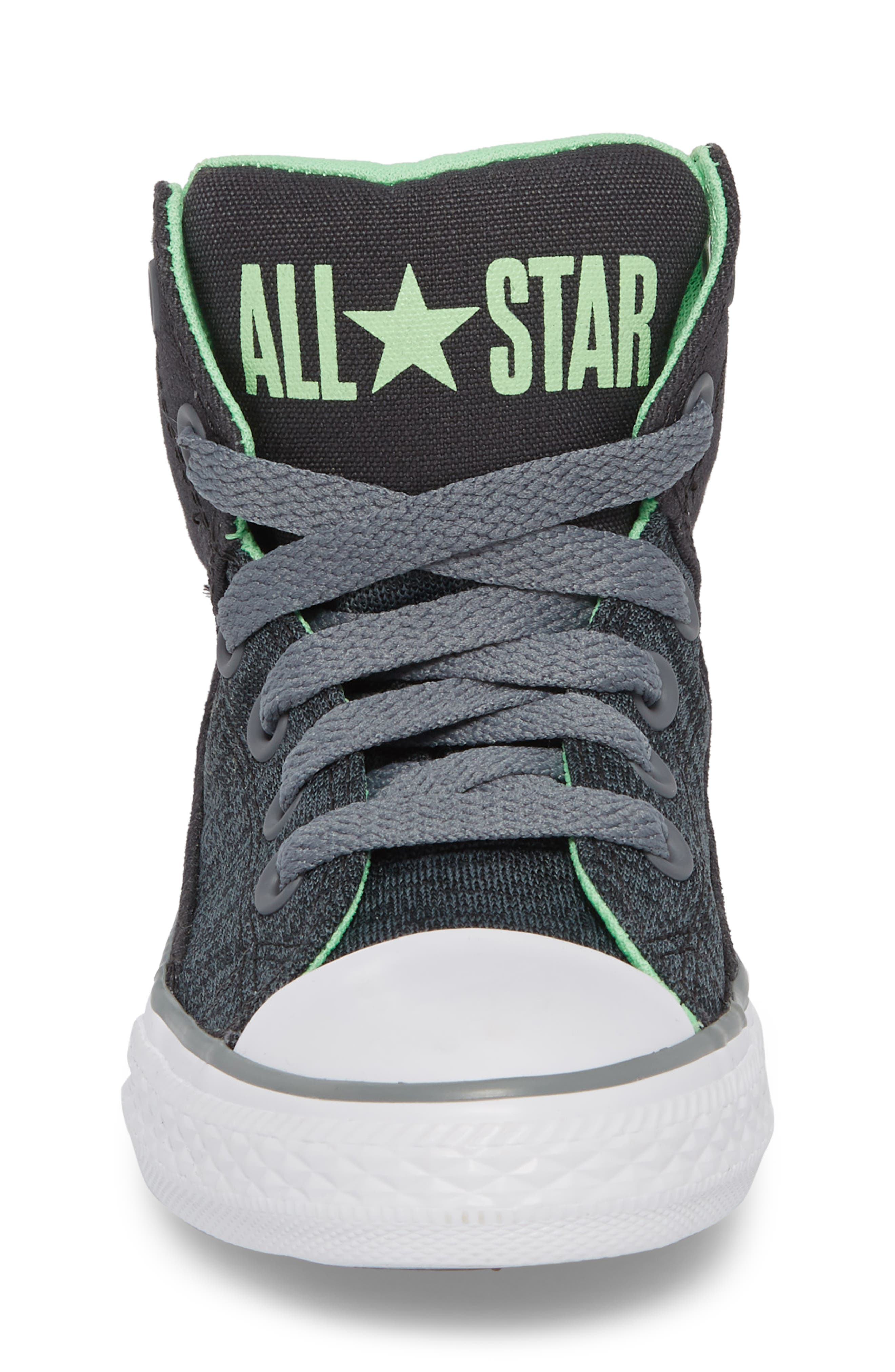 Chuck Taylor<sup>®</sup> All Star<sup>®</sup> High Street High Top Sneaker,                             Alternate thumbnail 4, color,                             Almost Black