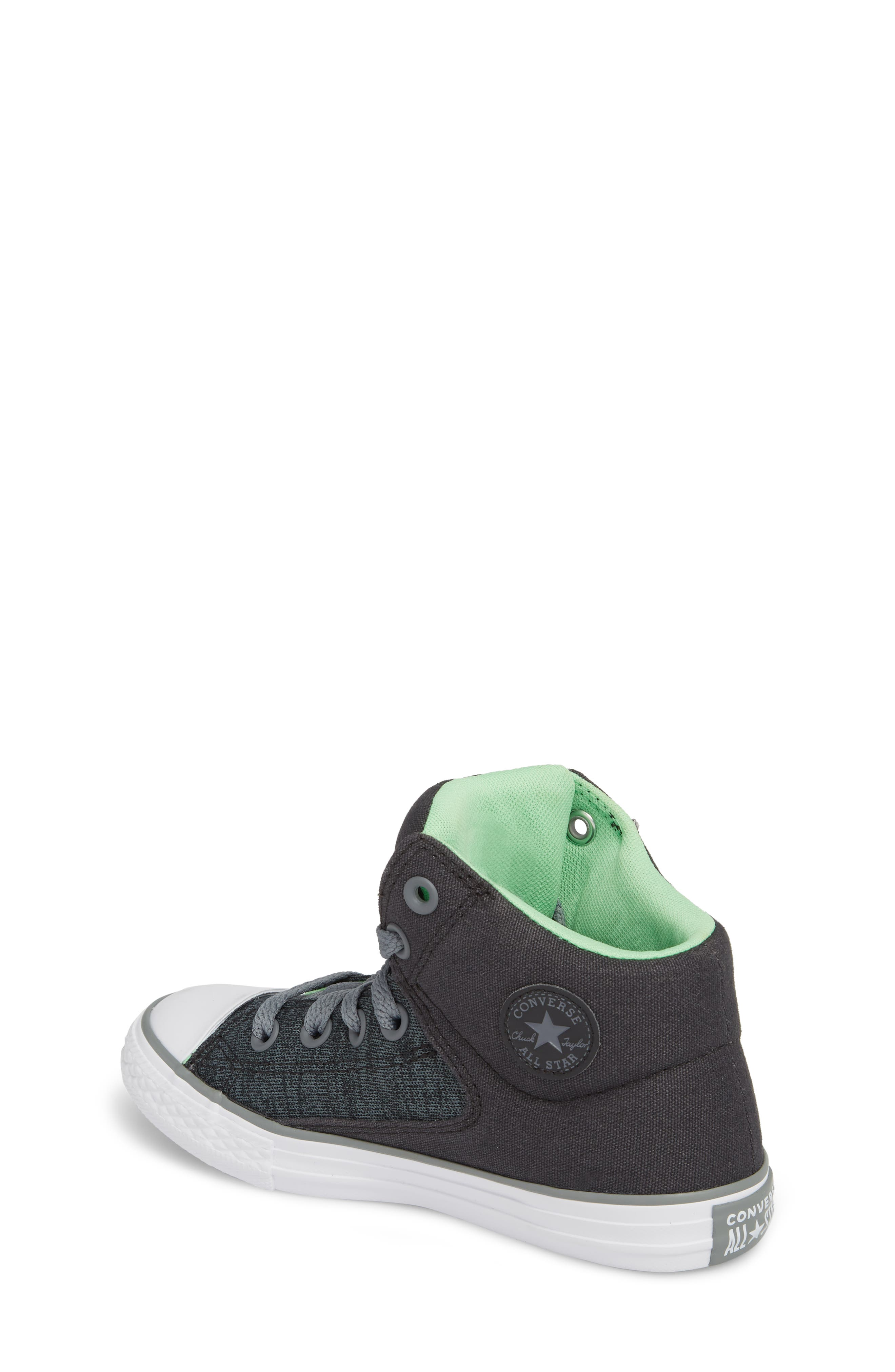 Chuck Taylor<sup>®</sup> All Star<sup>®</sup> High Street High Top Sneaker,                             Alternate thumbnail 2, color,                             Almost Black