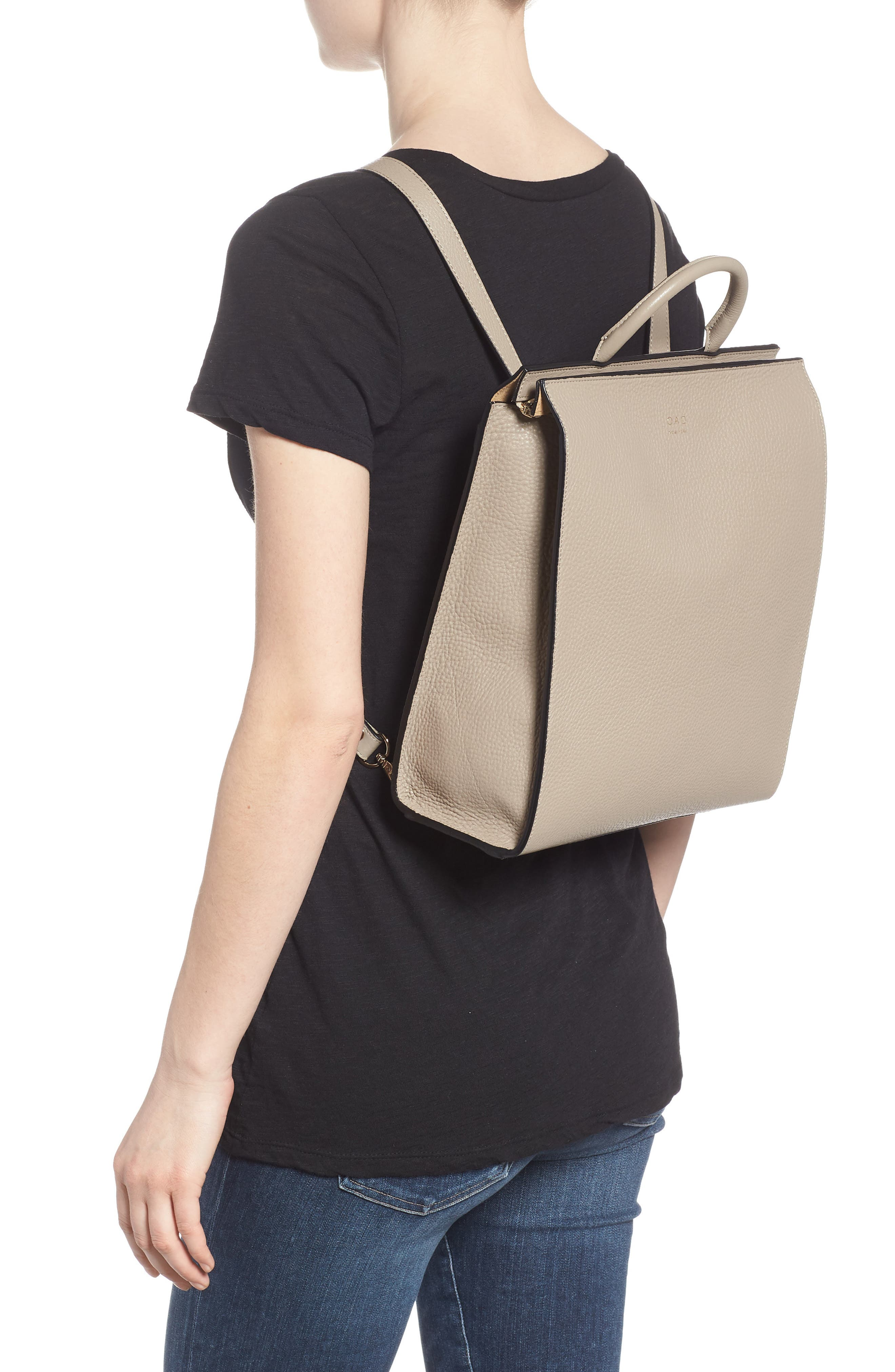 Arc Leather Backpack,                             Alternate thumbnail 2, color,                             Taupe