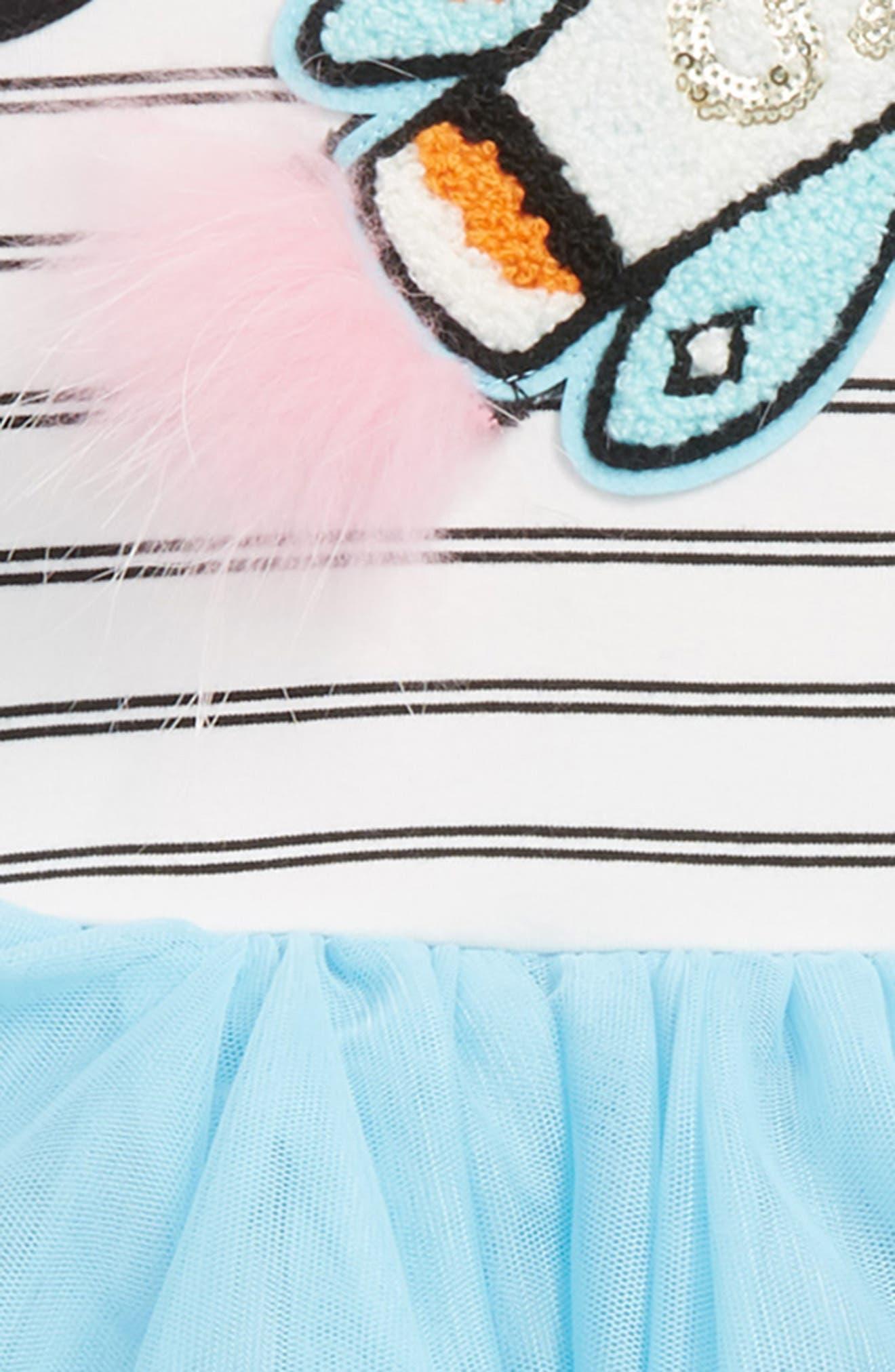 Rocket Tutu Dress,                             Alternate thumbnail 2, color,                             White/ Black