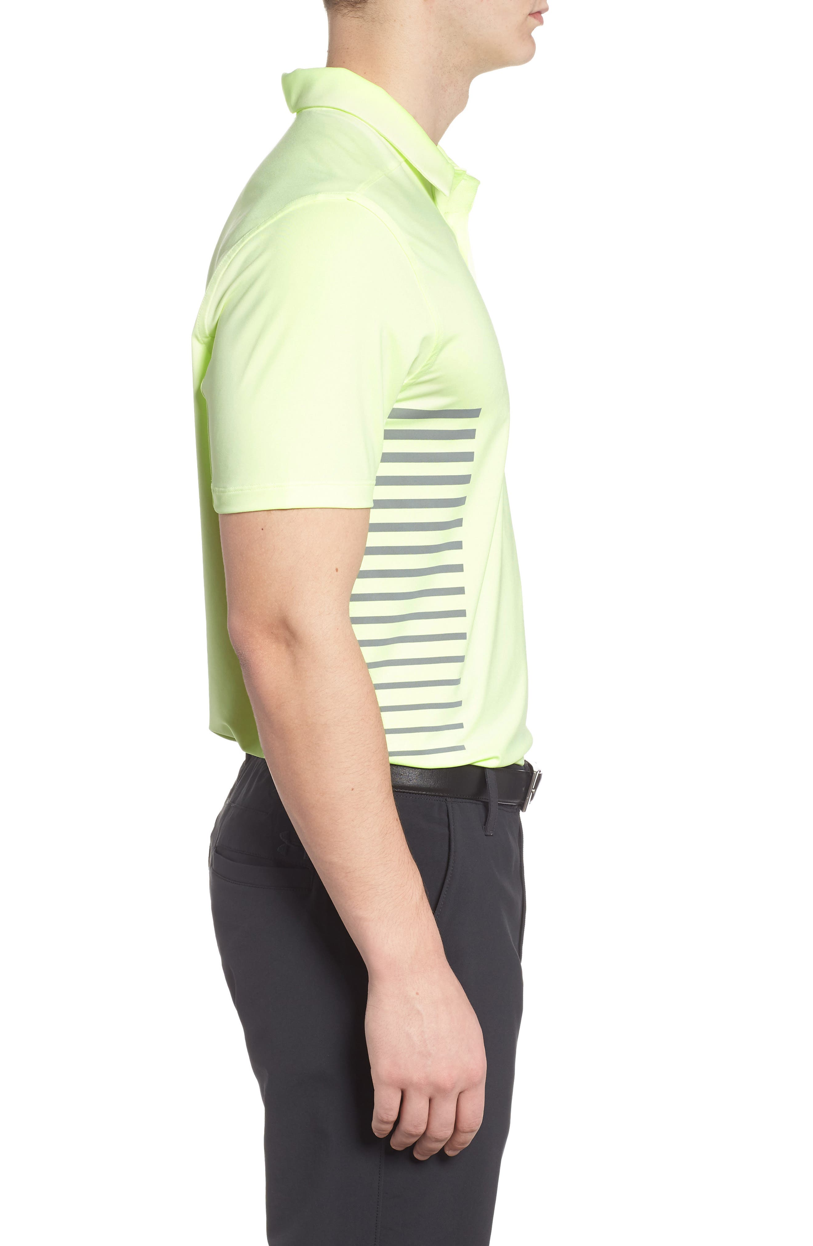 Dry Polo Shirt,                             Alternate thumbnail 3, color,                             Barely Volt/ Cool Grey/ Silver