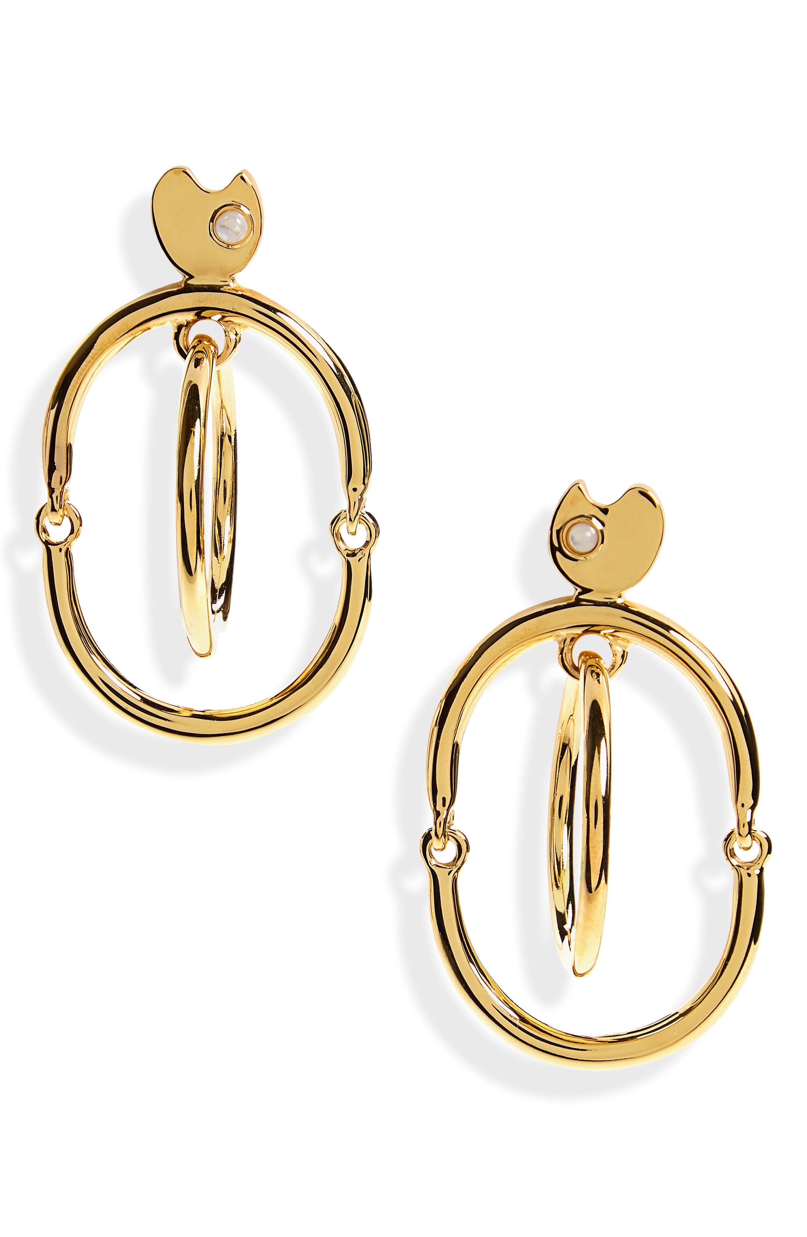 Galaxy Drop Earrings,                             Main thumbnail 1, color,                             Gold Multi
