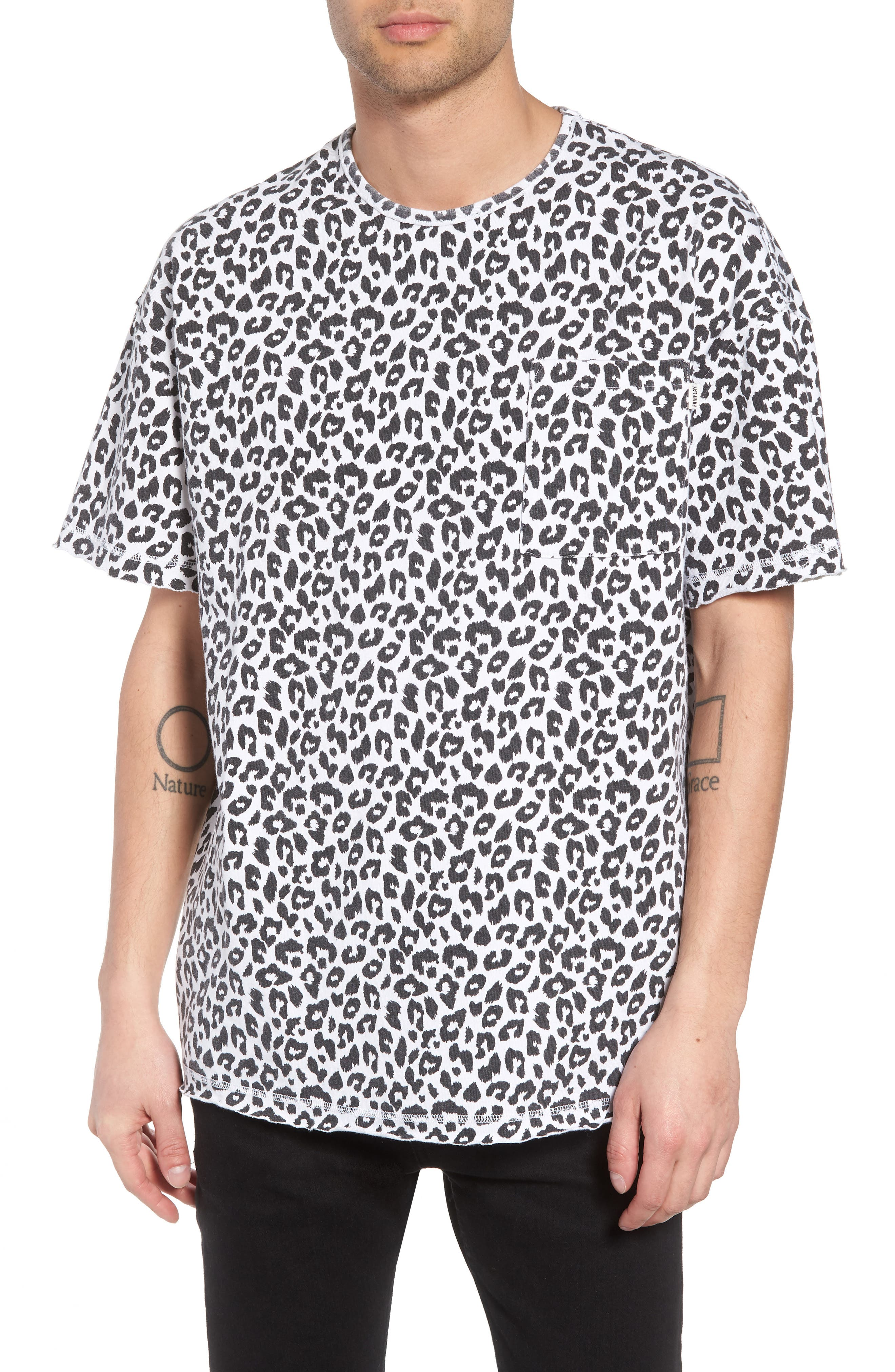 Mich Print T-Shirt,                         Main,                         color, White