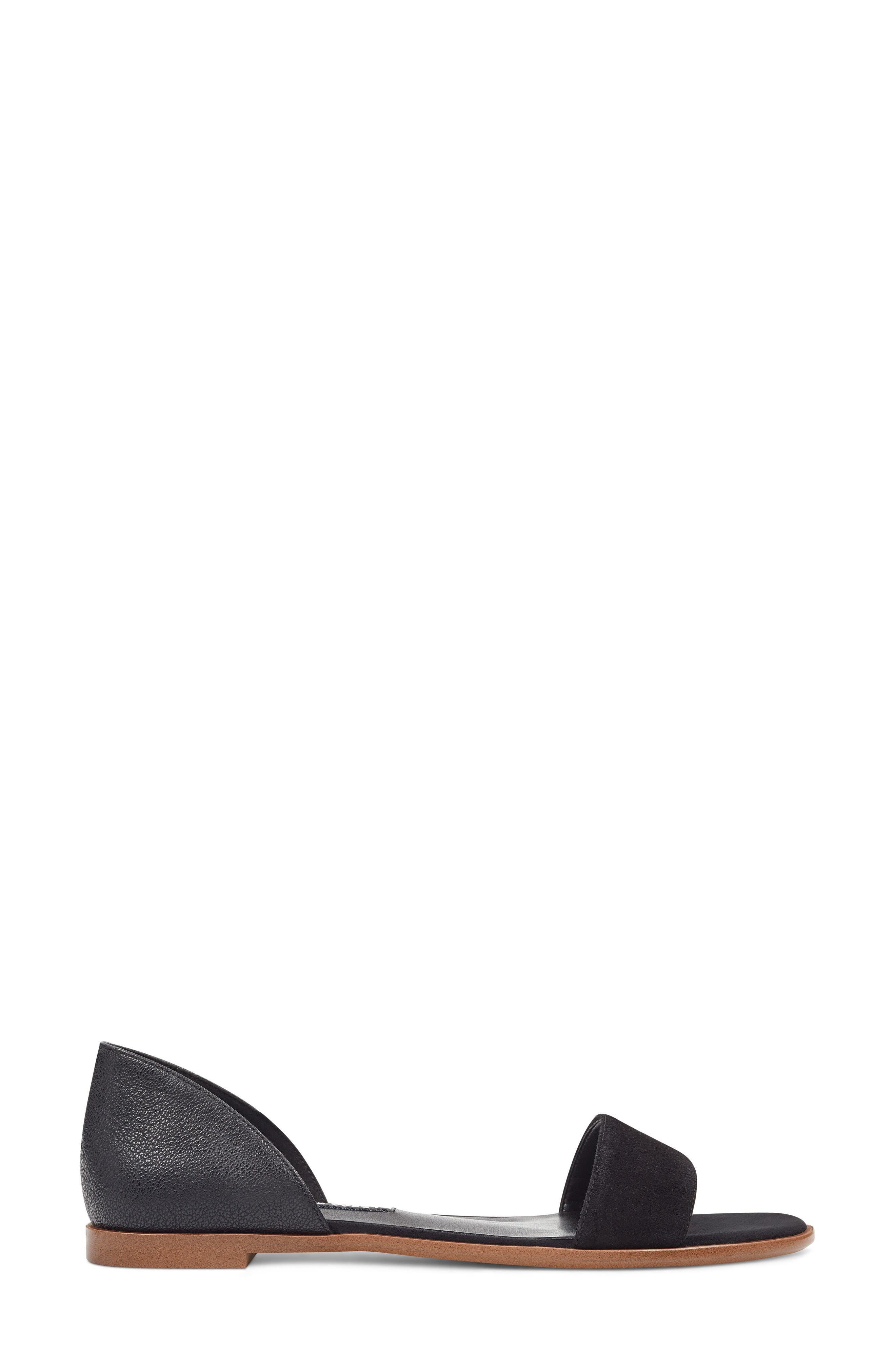 Maris Sandal,                             Alternate thumbnail 3, color,                             Black/ Black Leather