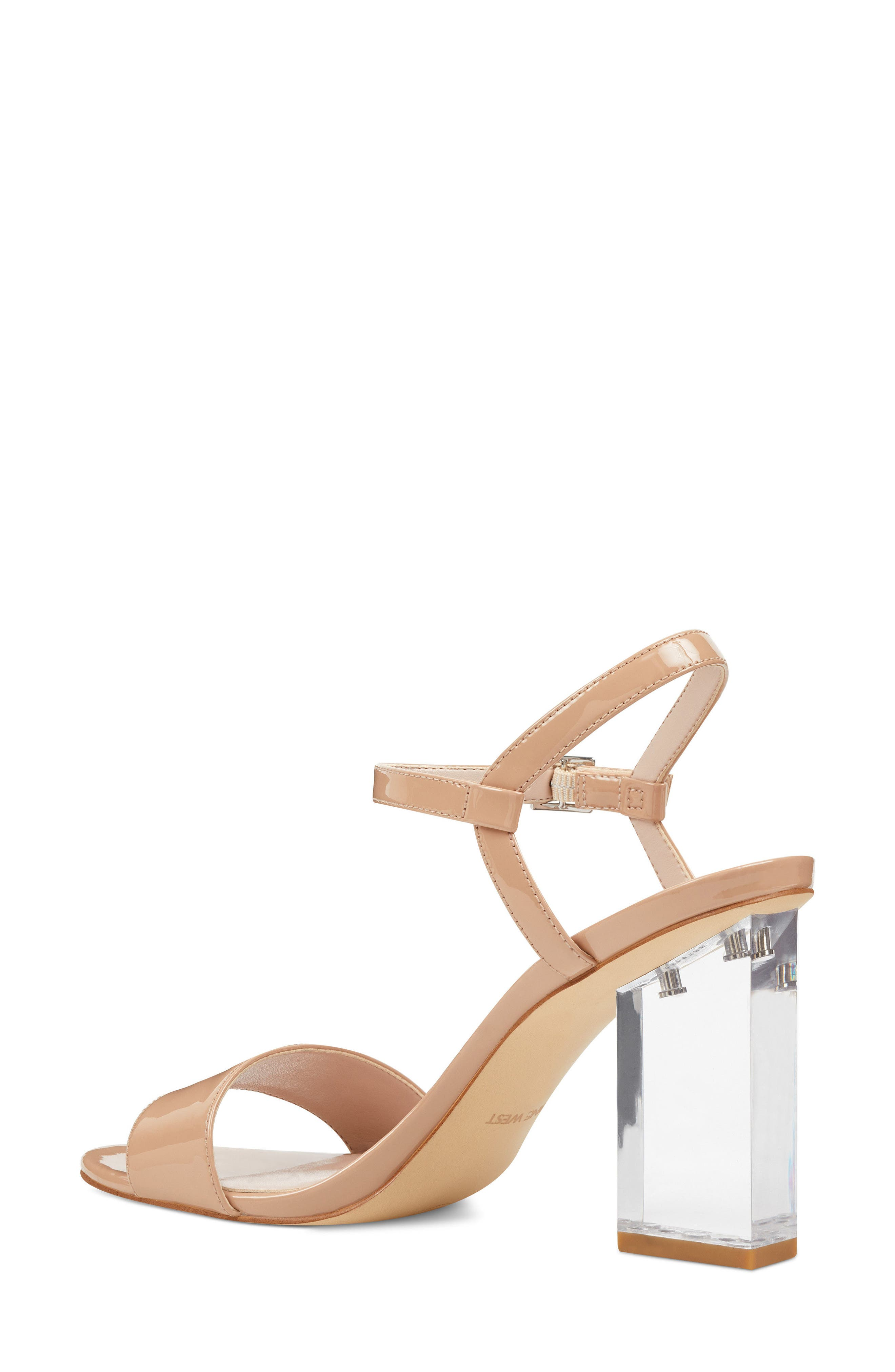 Feisty Ankle Strap Sandal,                             Alternate thumbnail 2, color,                             Nude Suede