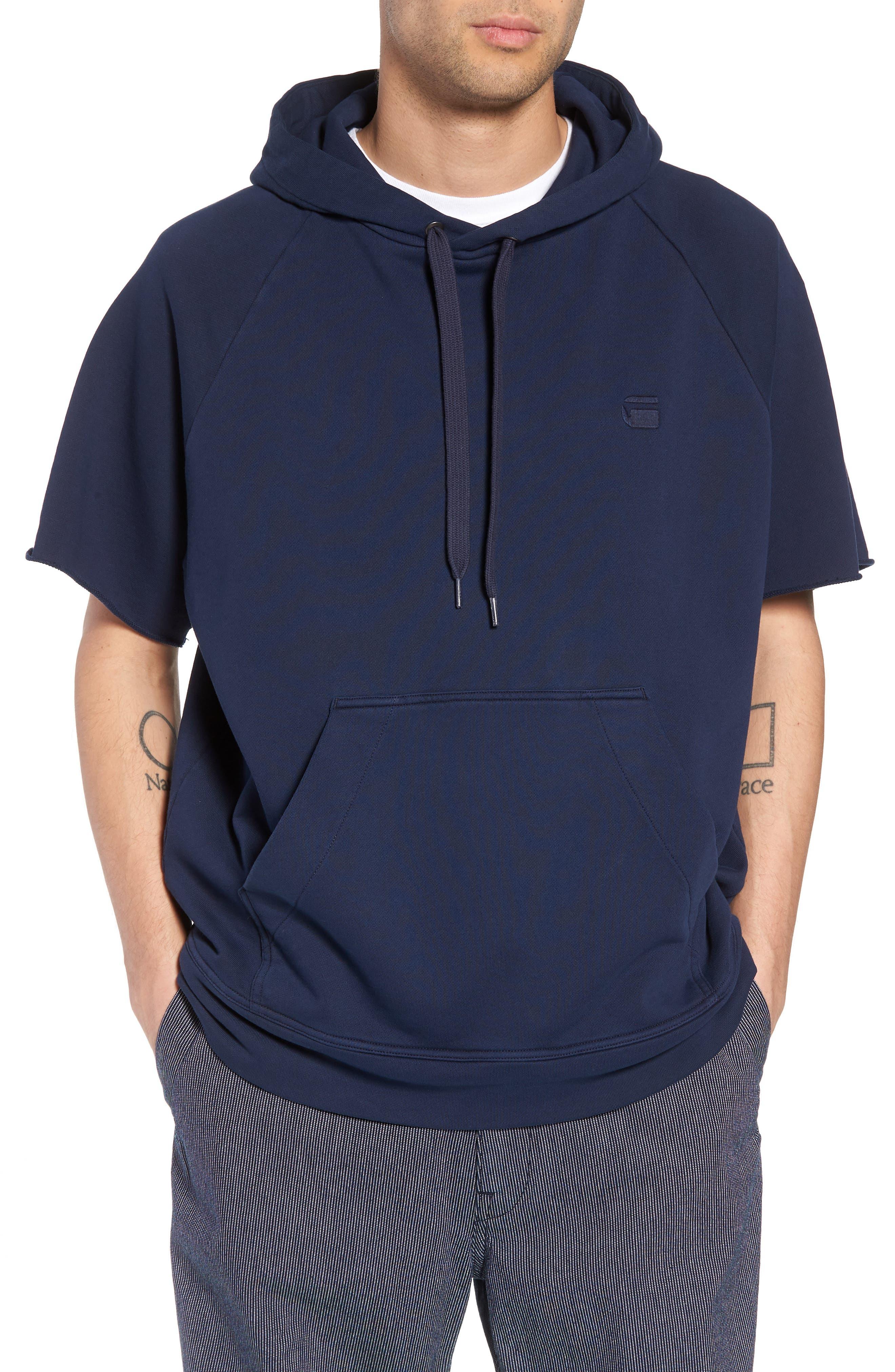G-Star Raw Tendric Half-Sleeve Hoodie Sweatshirt