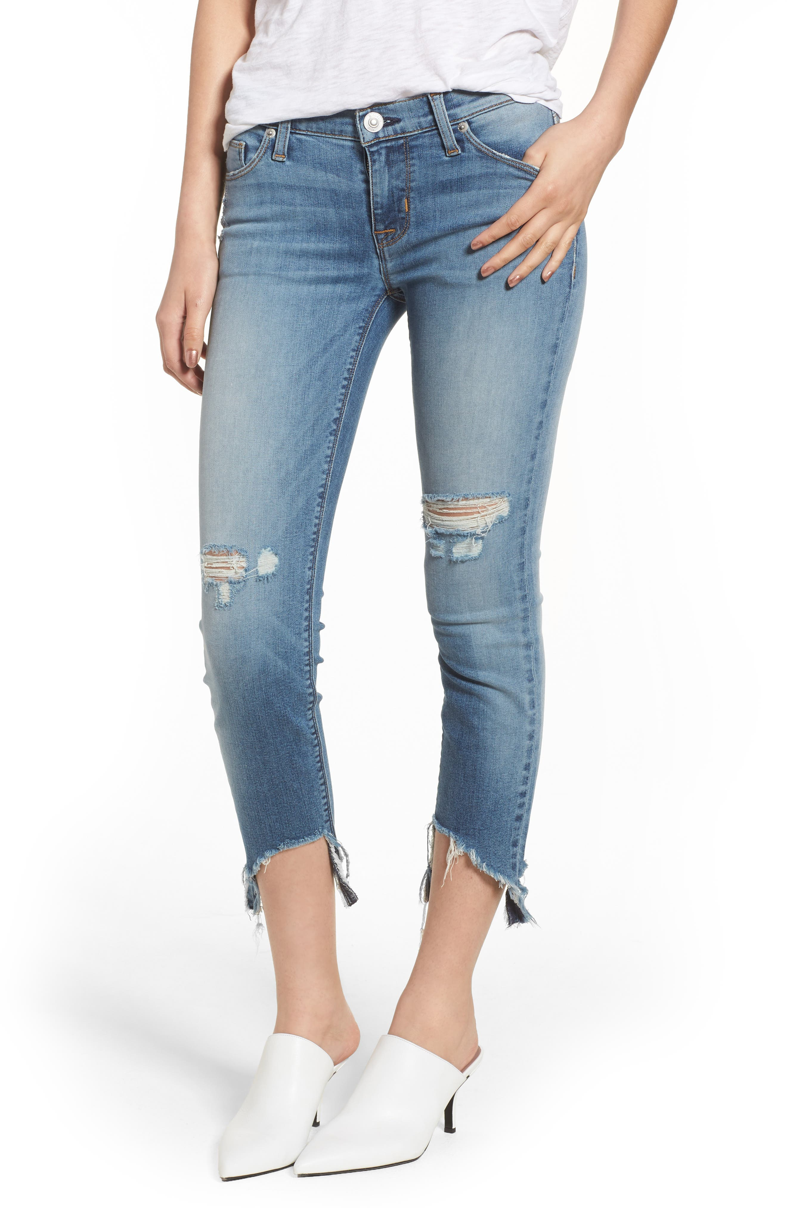 Tally Ripped Crop Skinny Jeans,                             Main thumbnail 1, color,                             Countdown