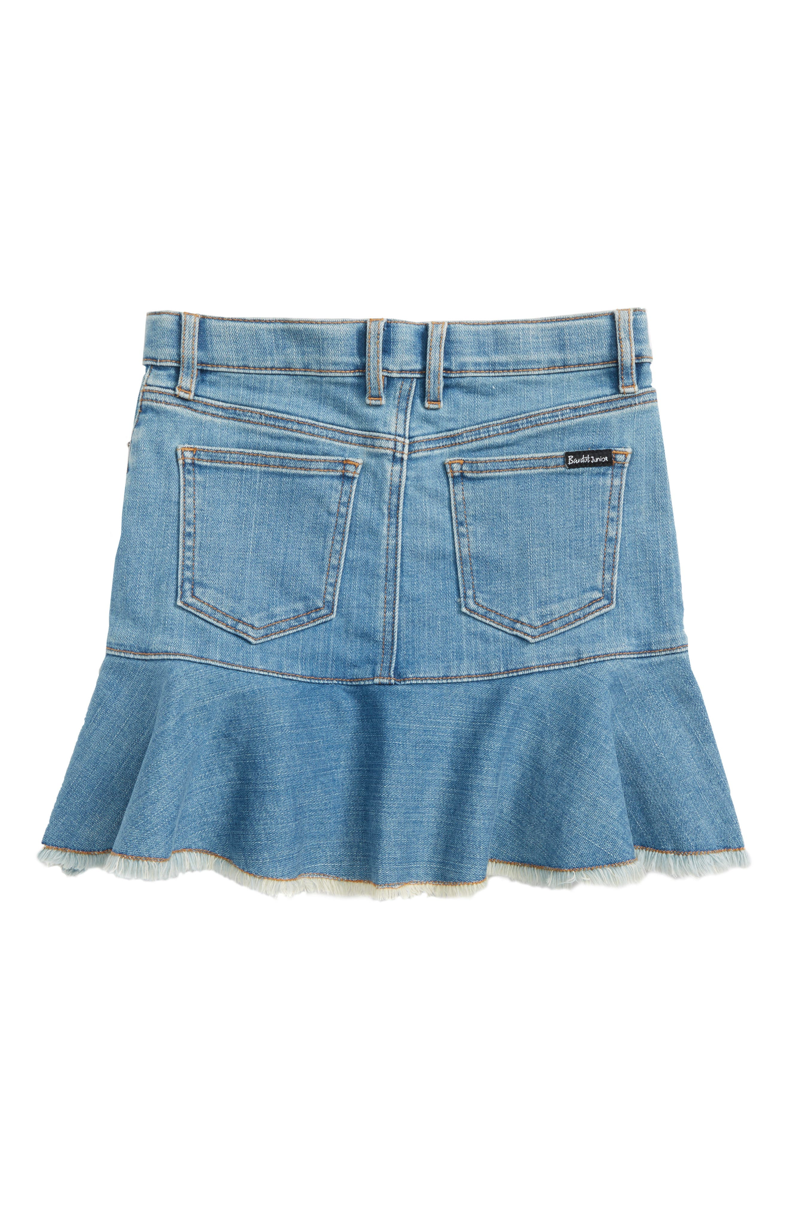 Mia Denim Skirt,                             Alternate thumbnail 2, color,                             Vintage Wash