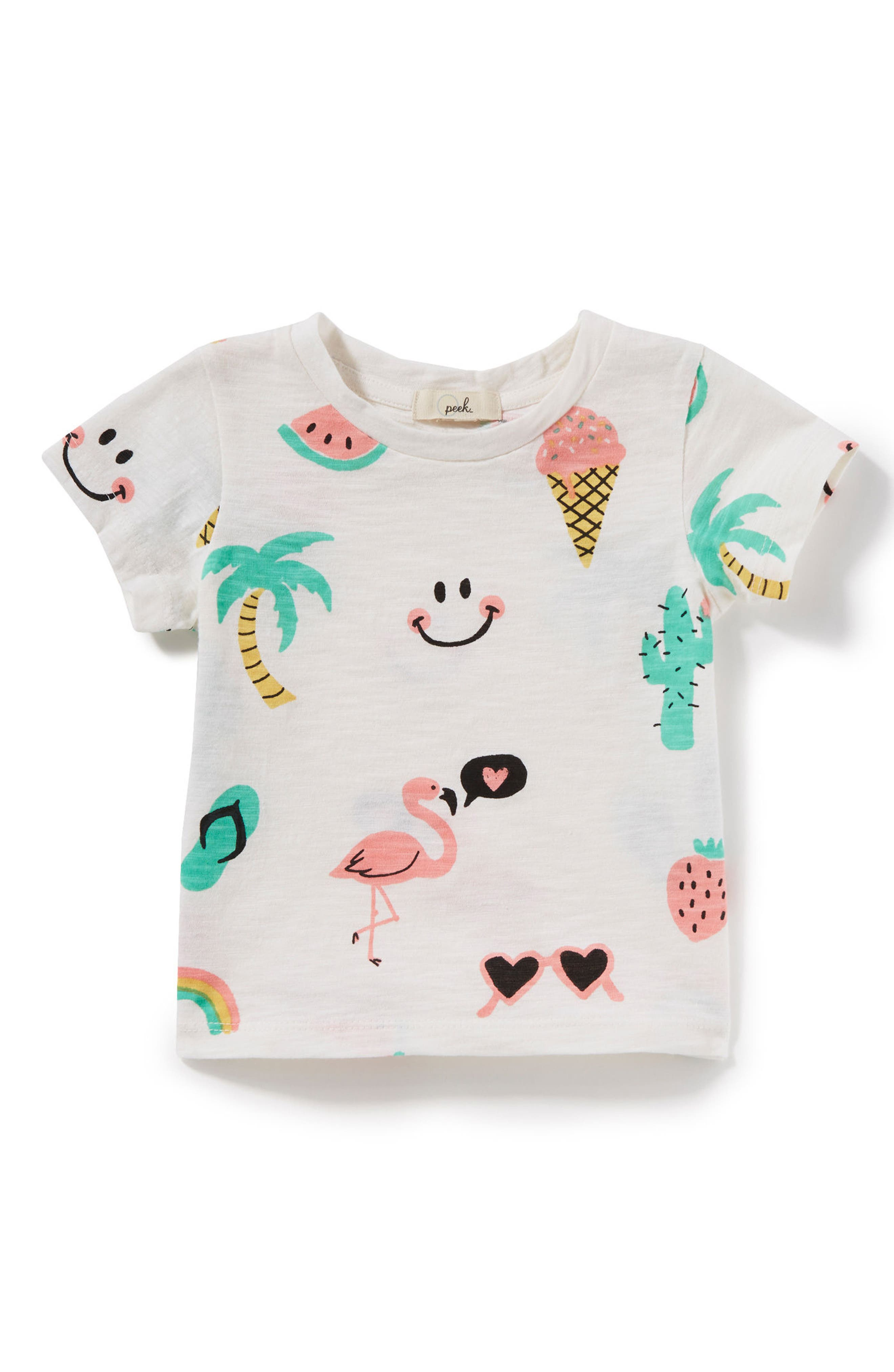 Summer Tee,                         Main,                         color, Ivory