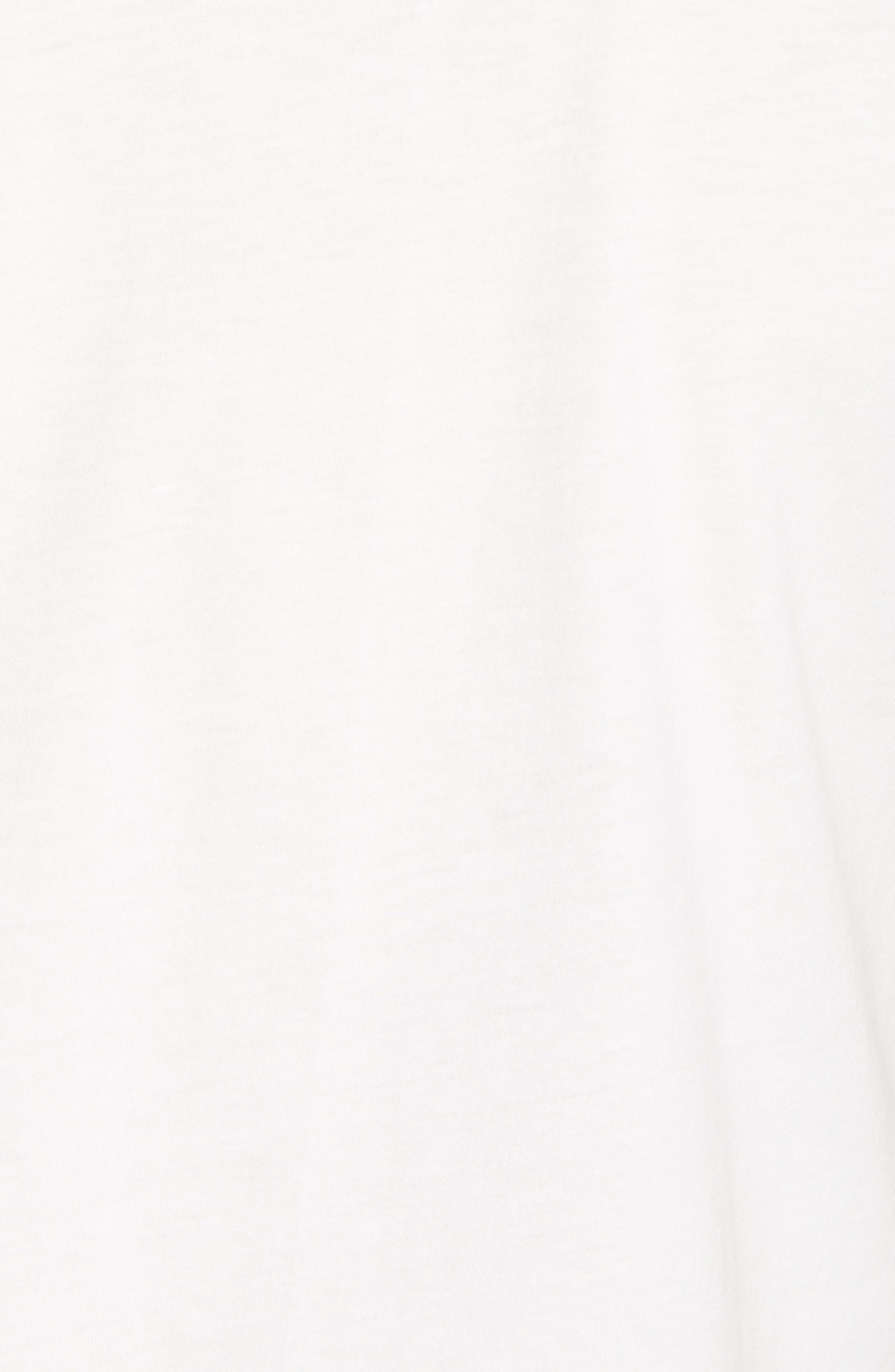 Fitz Roy Bear Crewneck T-Shirt,                             Alternate thumbnail 5, color,                             White