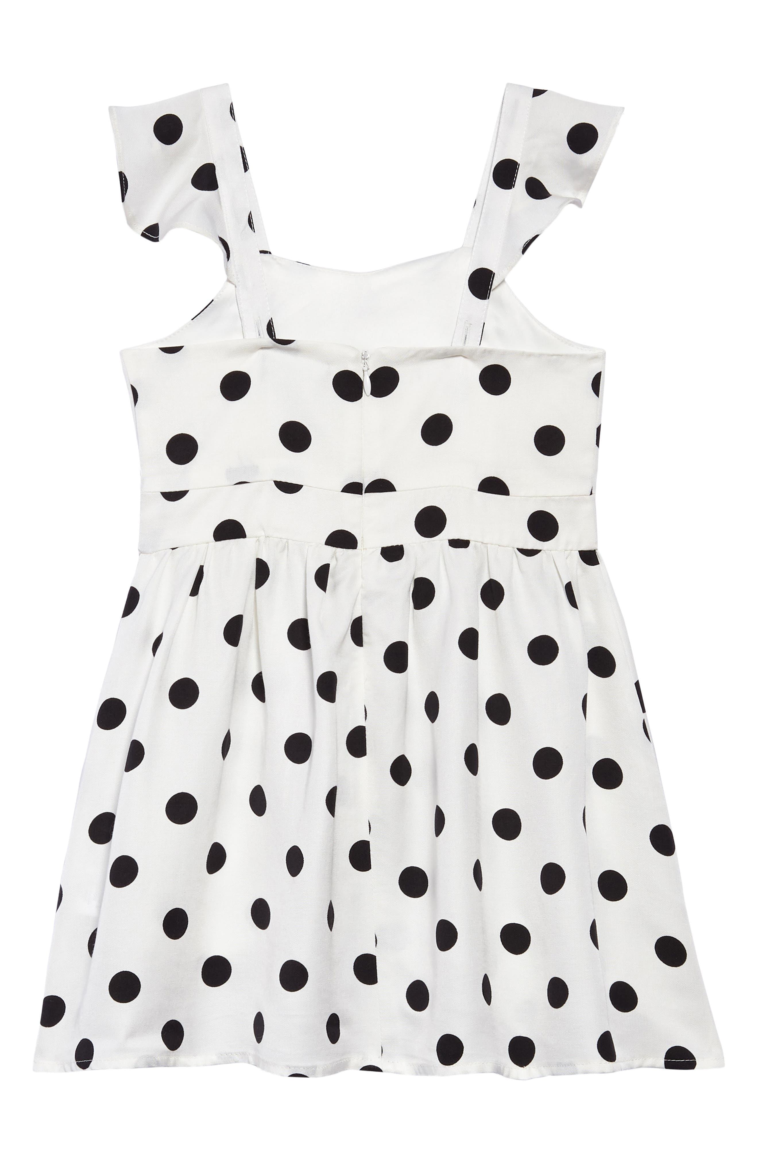 Polka Dot Dress,                             Alternate thumbnail 2, color,                             White Spot
