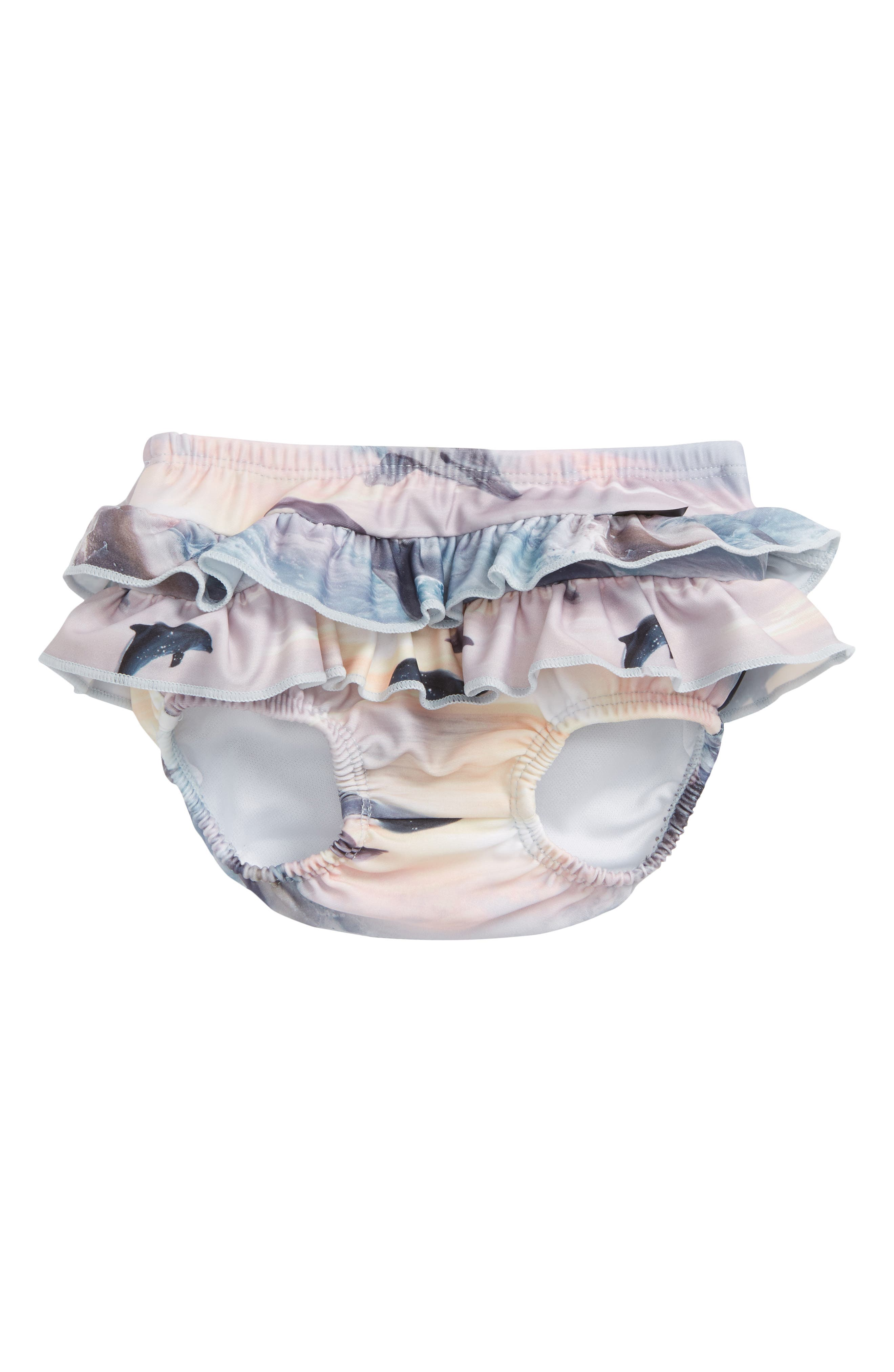 Neena Ruffled Swim Bottoms,                             Main thumbnail 1, color,                             Dolphins Sunset