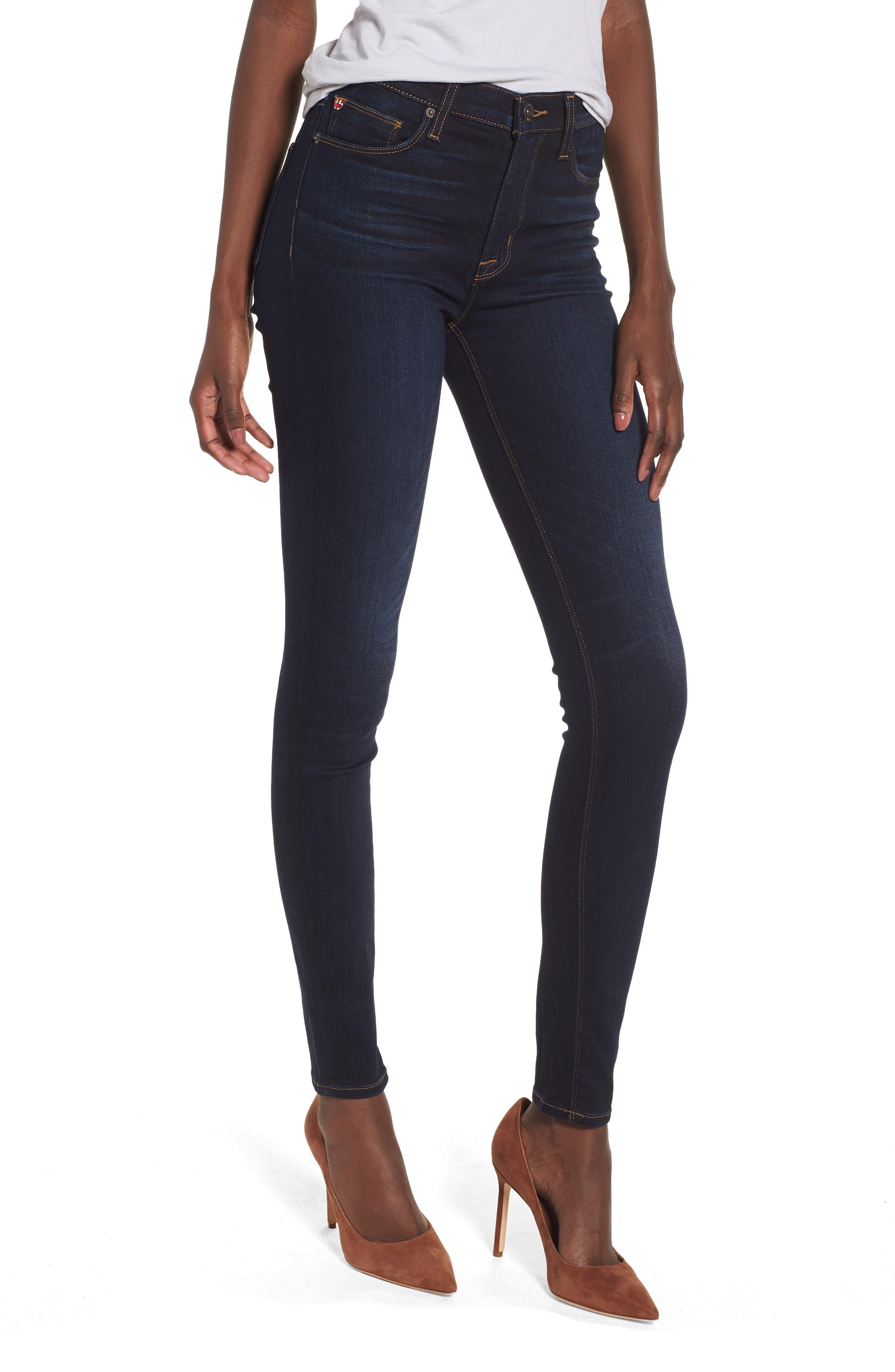 Barbara High Waist Ankle Supermodel Skinny Jeans,                         Main,                         color, Calvary