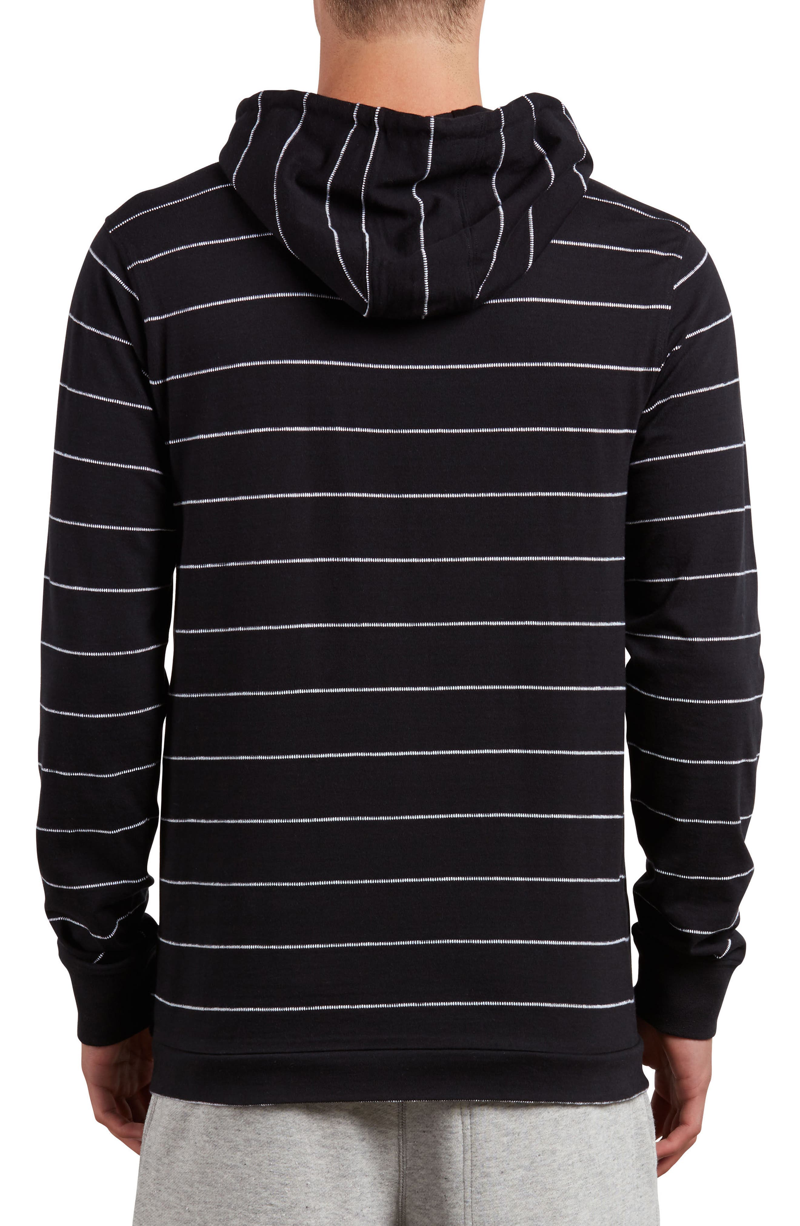 Hooded Knit Pullover,                             Alternate thumbnail 2, color,                             Black