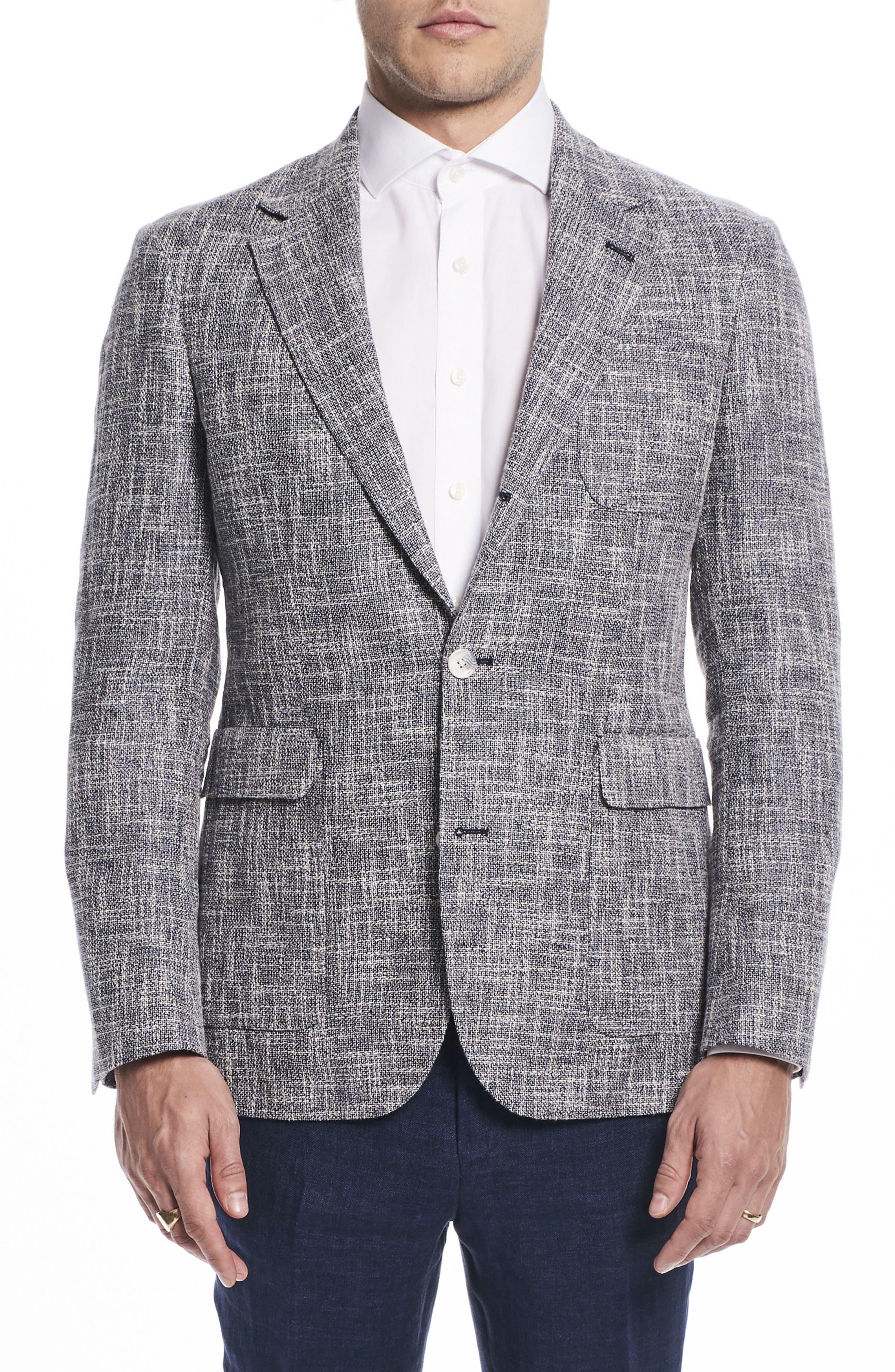 Strong Suit by Ilaria Urbinati Ignatius Slim Fit Linen & Cotton Blazer (Nordstrom Exclusive)