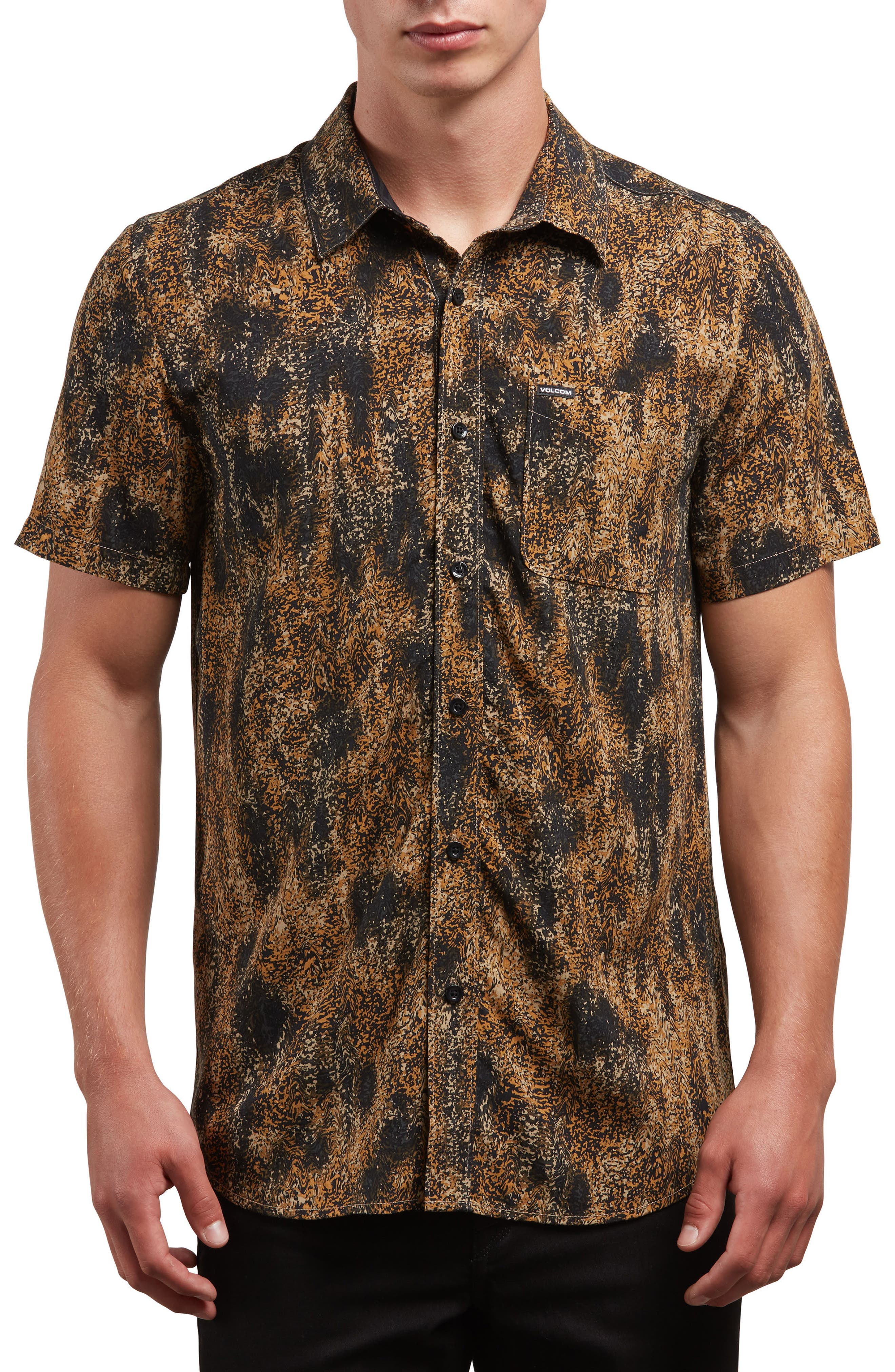 Klasey Woven Shirt,                             Main thumbnail 1, color,                             Brown Sand