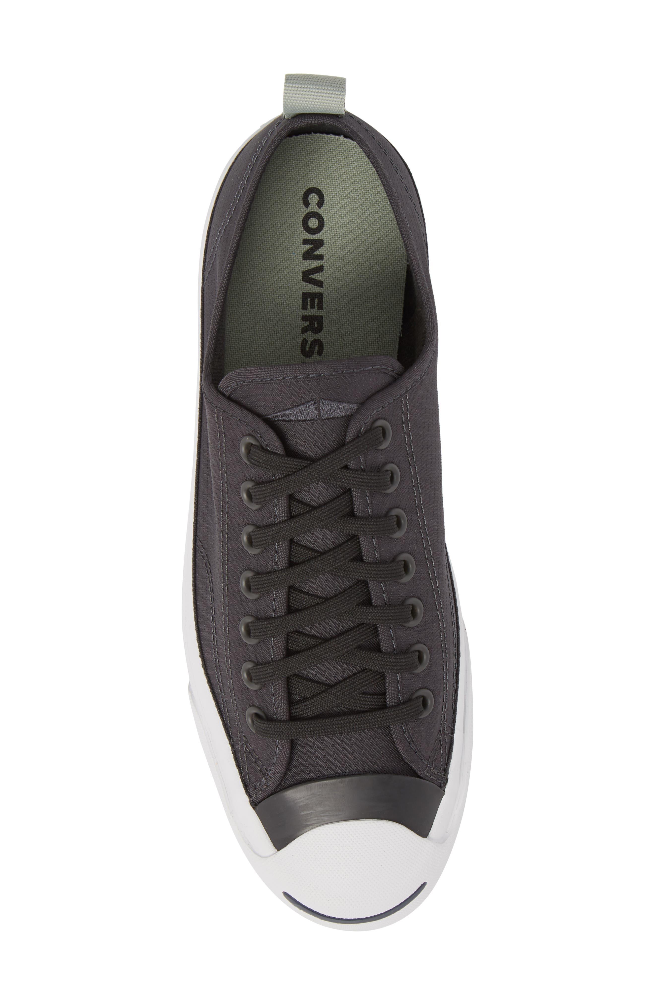 Jack Purcell Ripstop Sneaker,                             Alternate thumbnail 5, color,                             Black