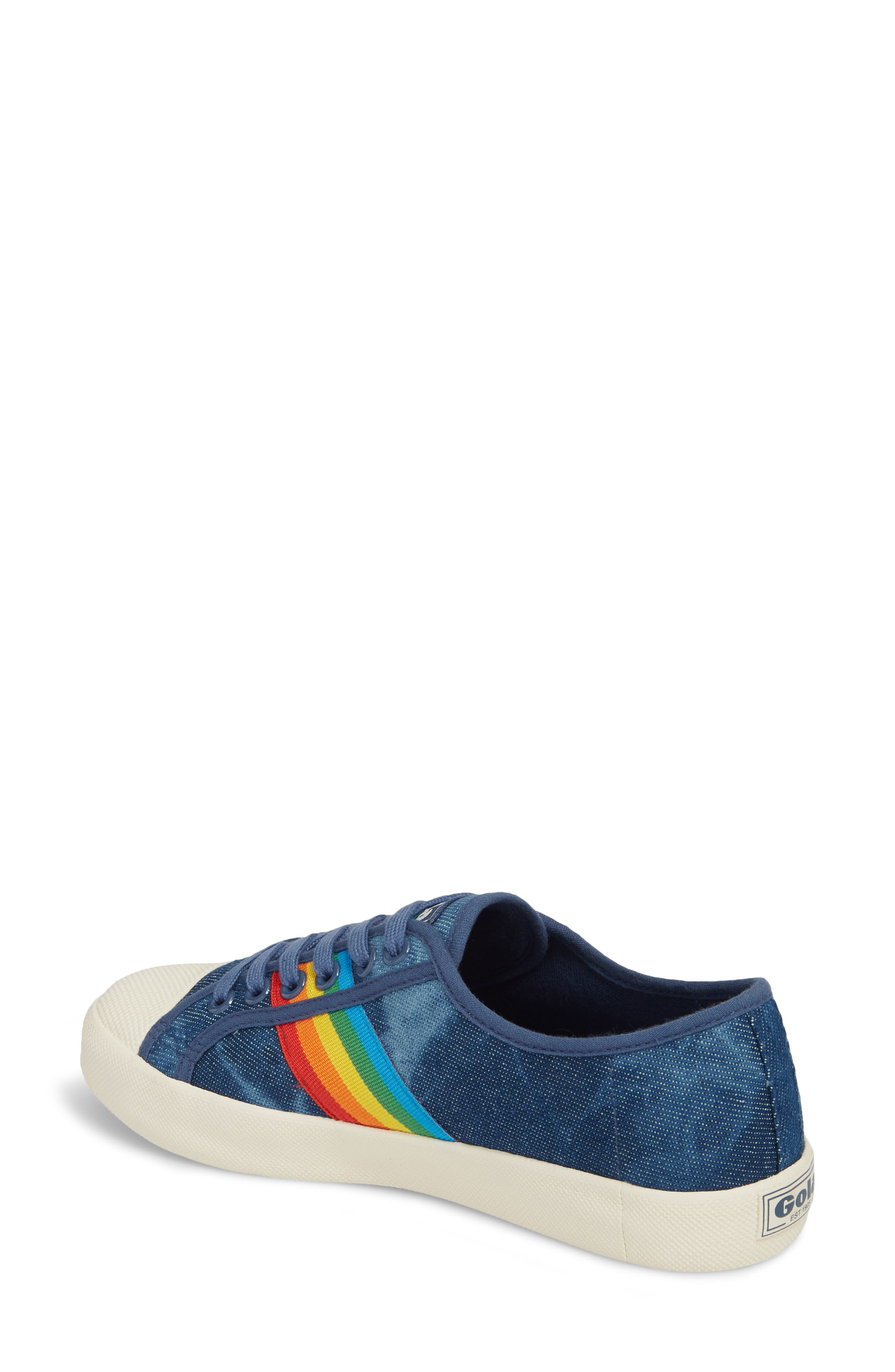 Alternate Image 2  - Gola Coaster Rainbow Striped Sneaker (Women)