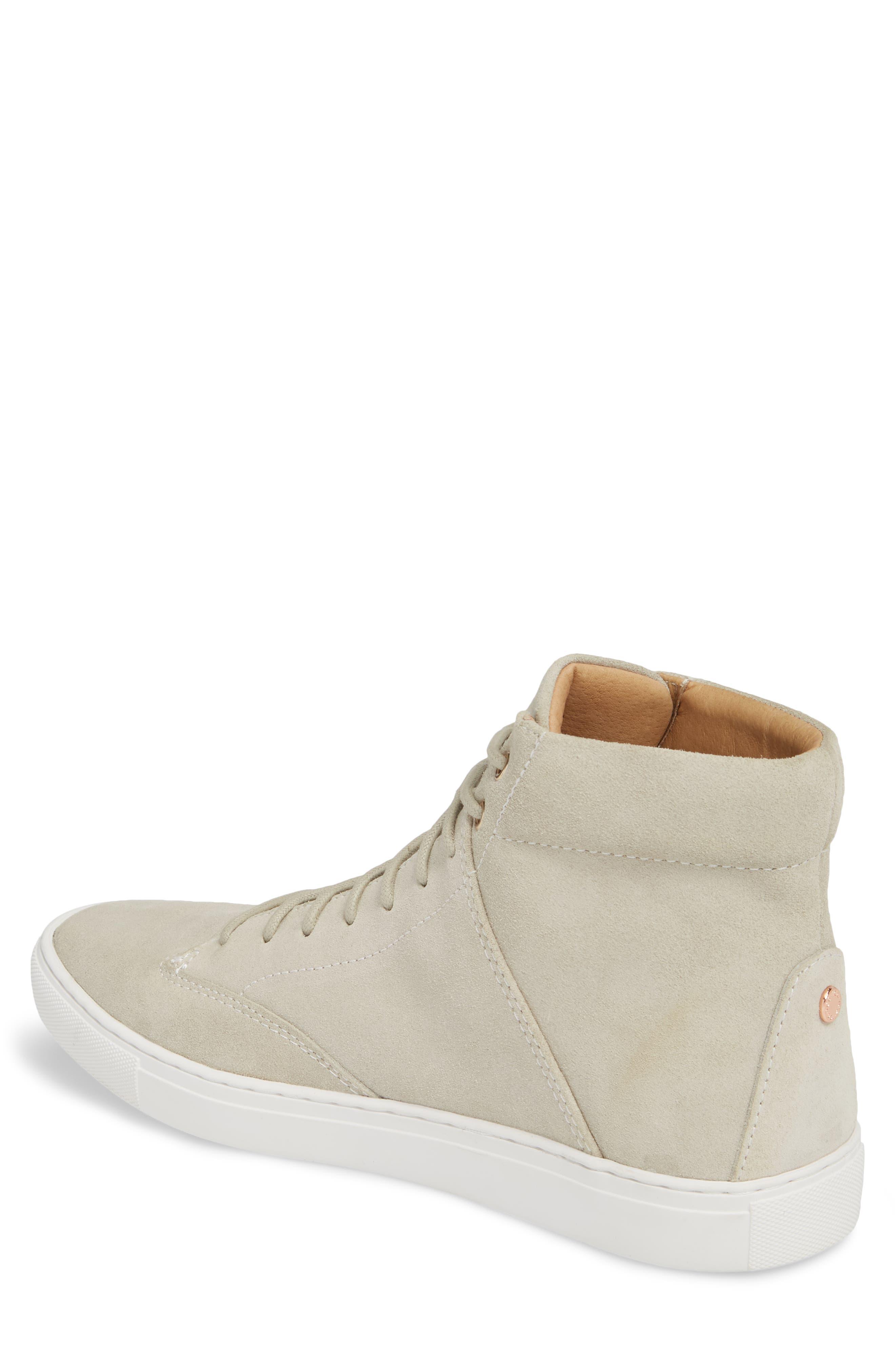'Porter' High Top Sneaker,                             Alternate thumbnail 2, color,                             Quartz Leather