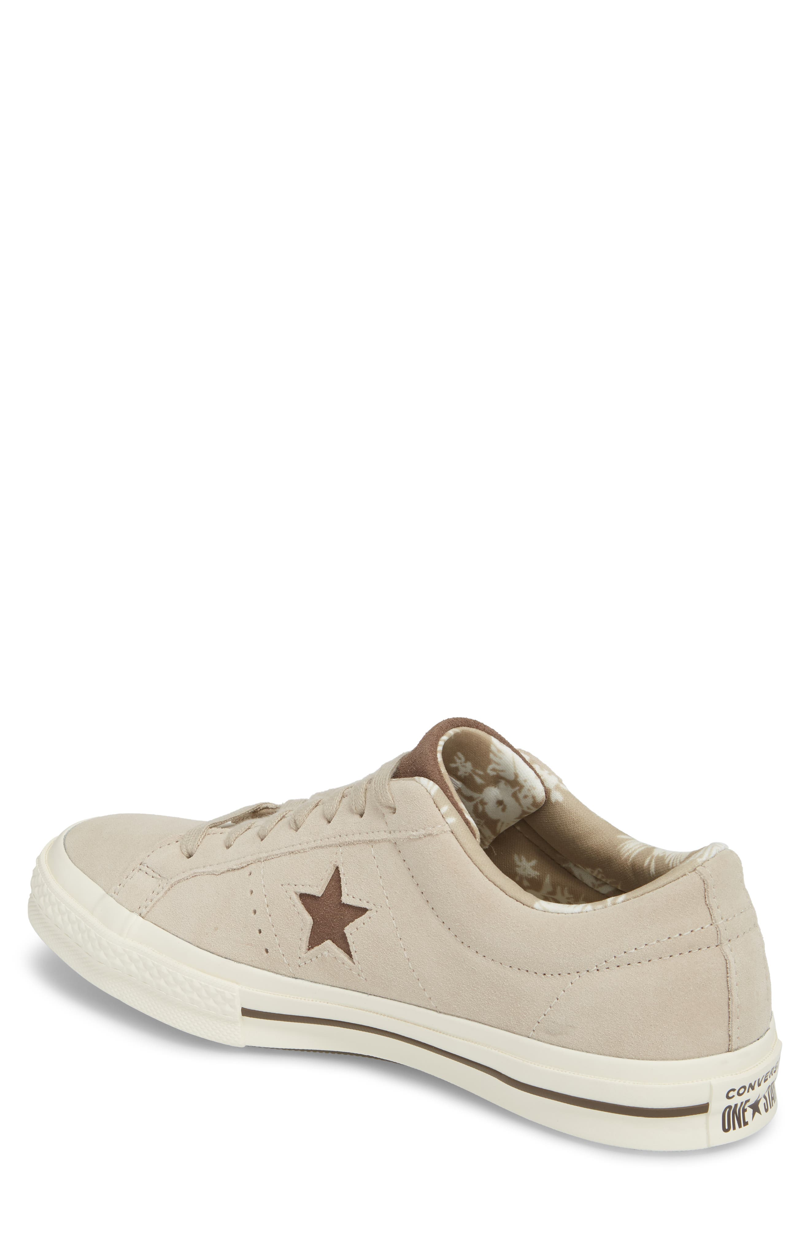 One-Star Tropical Sneaker,                             Alternate thumbnail 2, color,                             Khaki Suede