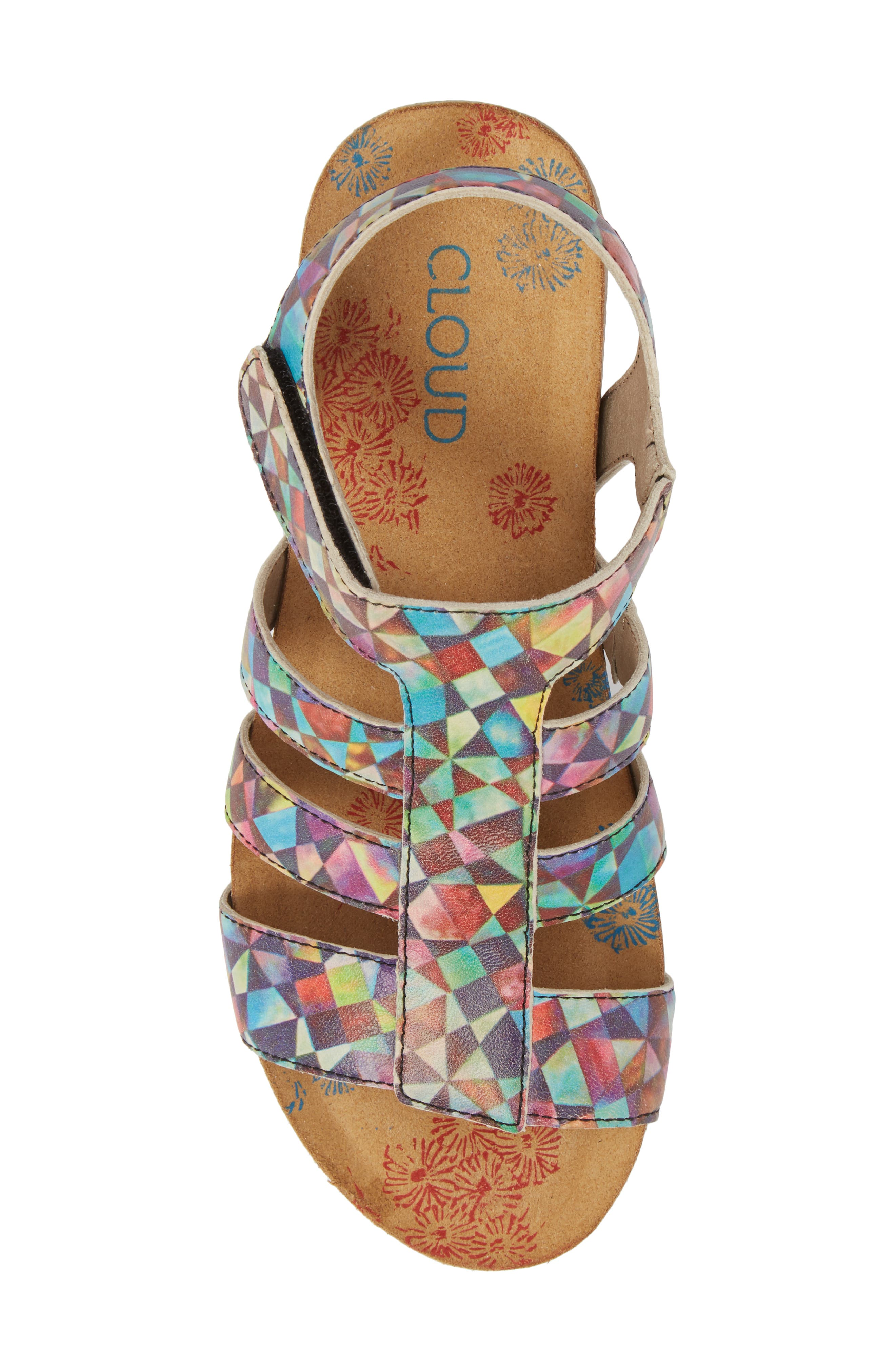 Delta Wedge Sandal,                             Alternate thumbnail 5, color,                             Mystere Leather
