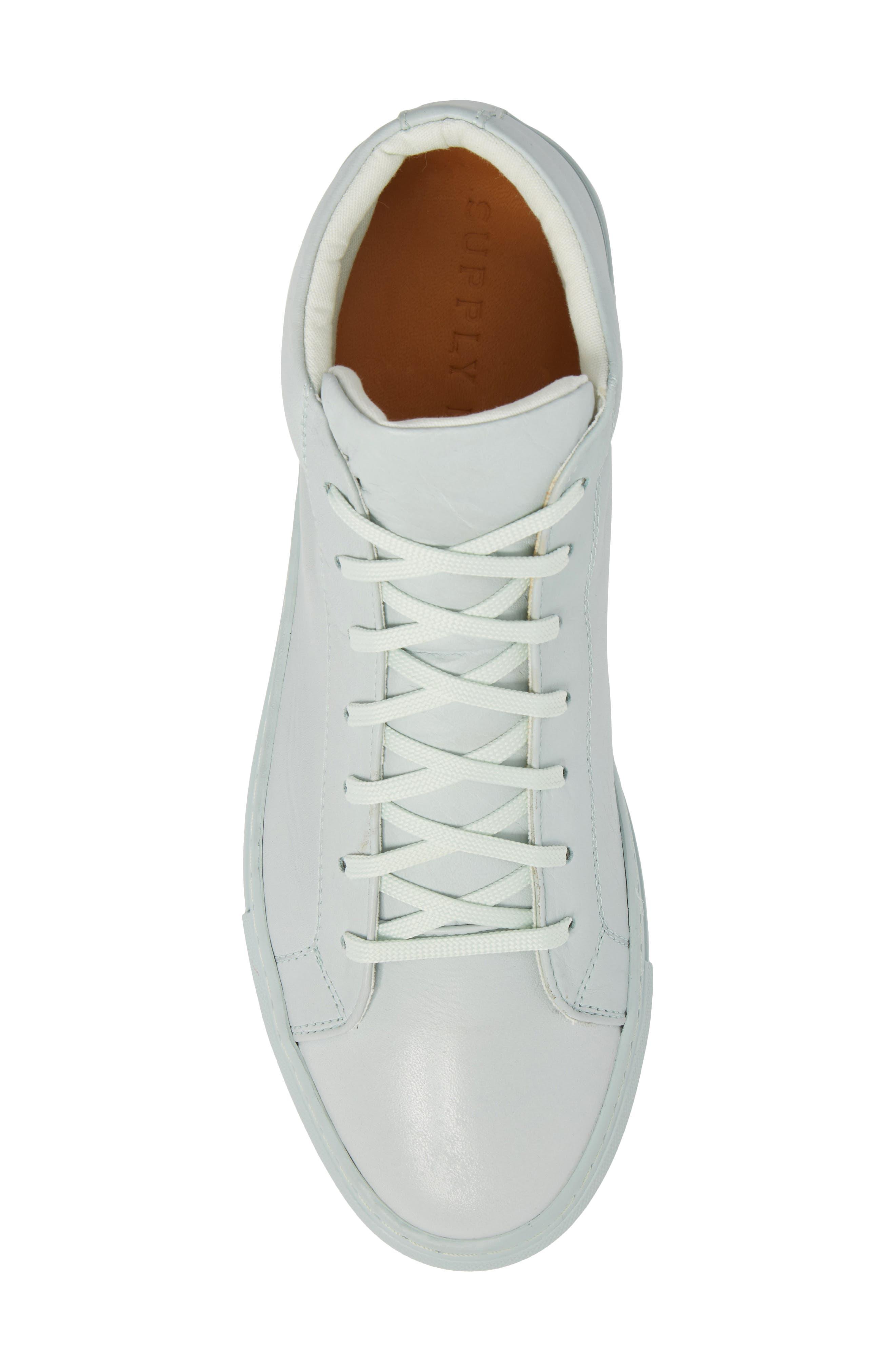 Lexington Mid Top Sneaker,                             Alternate thumbnail 5, color,                             Mint Green Leather