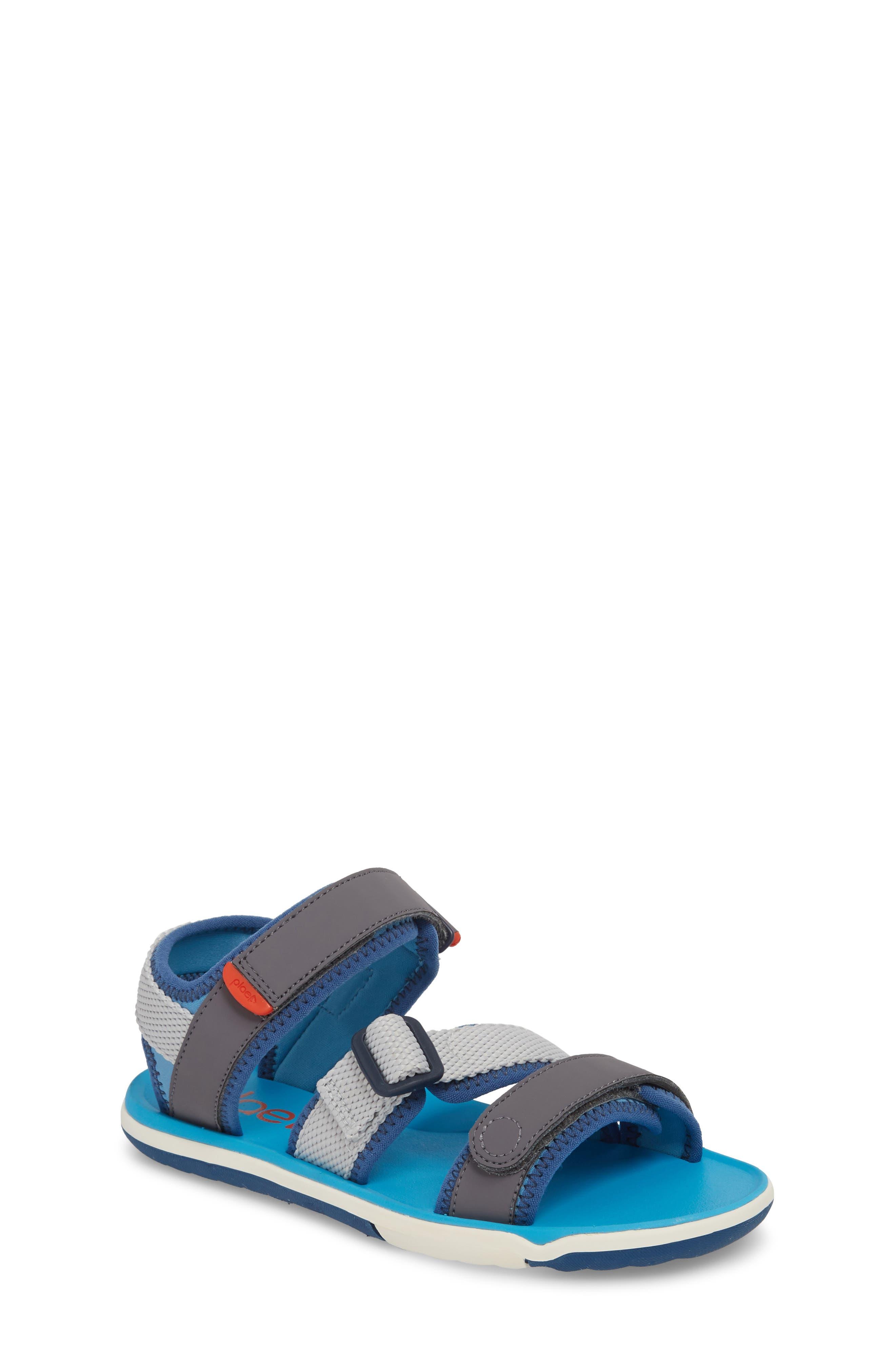 Wes Customizable Sandal,                         Main,                         color, Aloha Blue