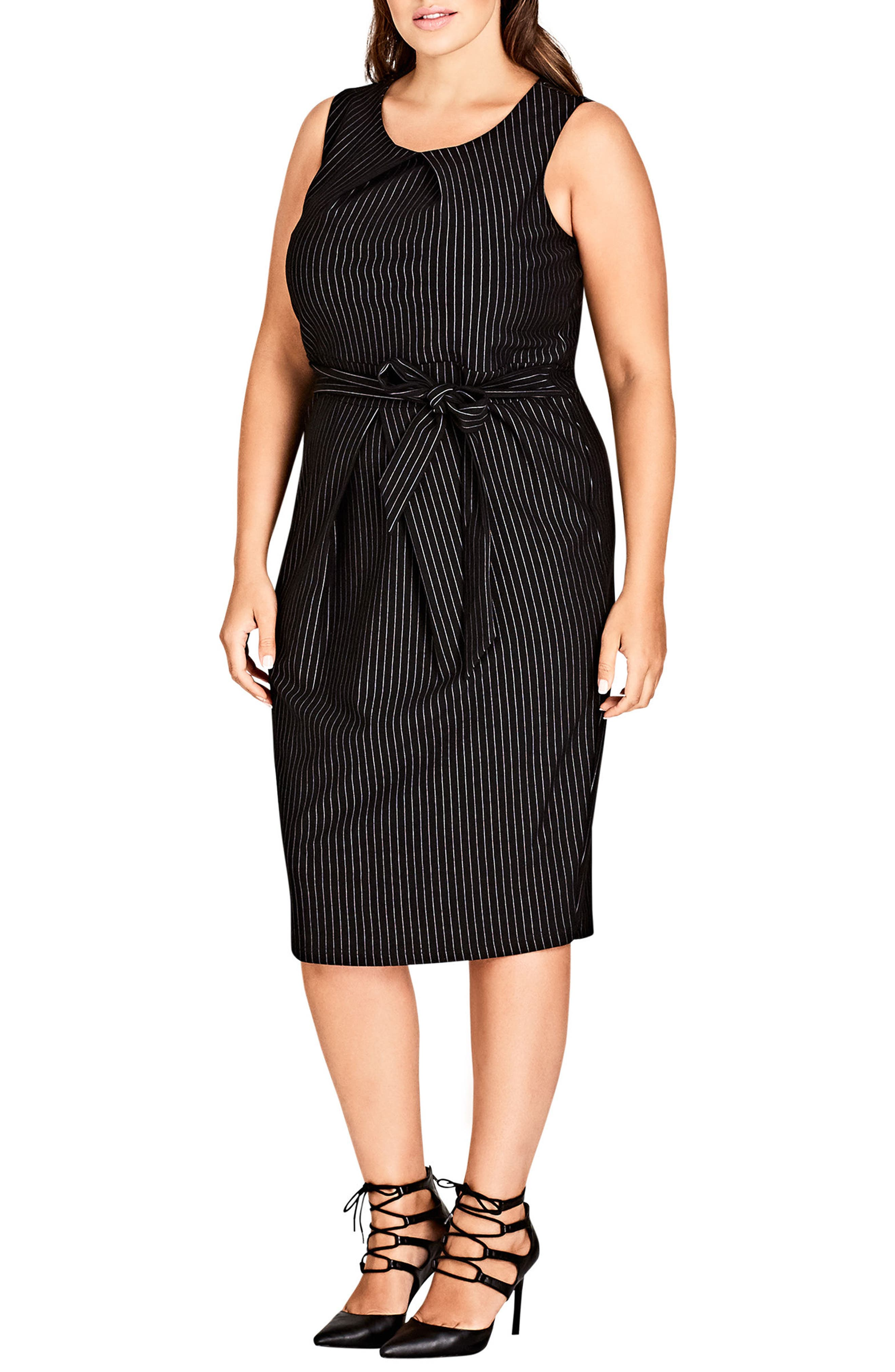 Aster Stripe Sheath Dress,                             Main thumbnail 1, color,                             Pin Stripe