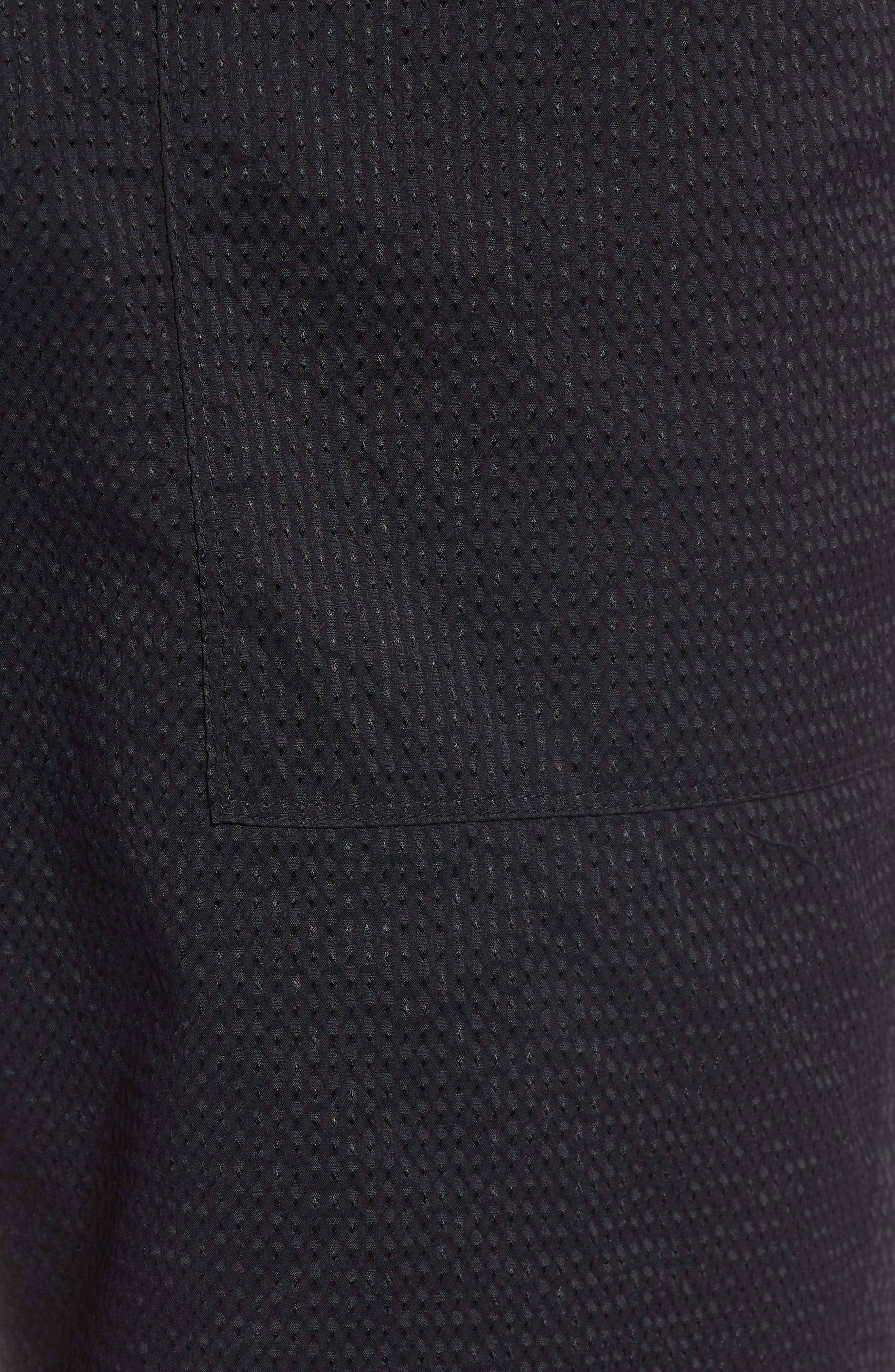 Utility Seersucker Shorts,                             Alternate thumbnail 5, color,                             Black Seersucker