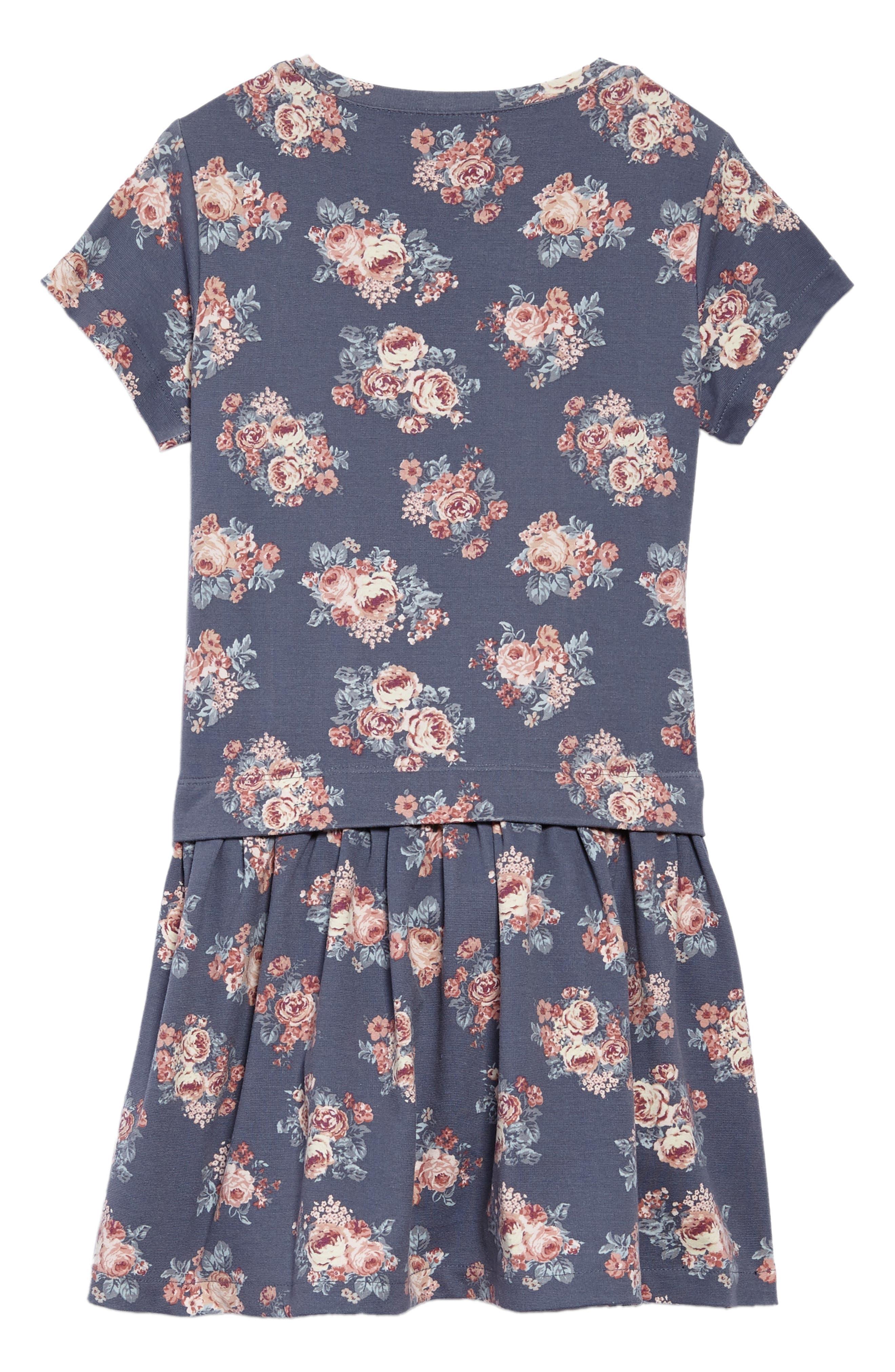 Michella Floral Print Dress,                             Alternate thumbnail 2, color,                             Grisaille