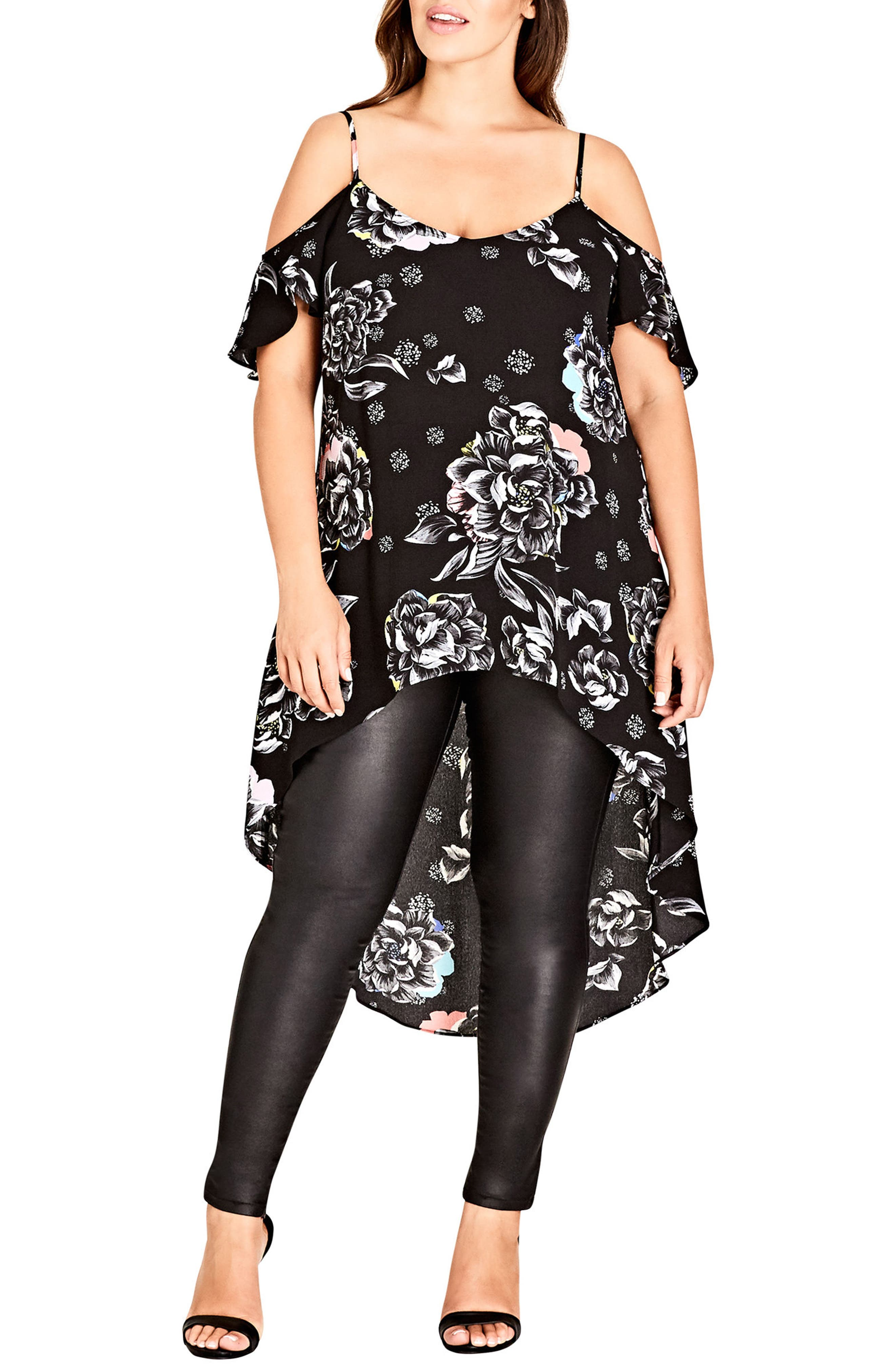 City Chic Flower Power Tunic Top (Plus Size)