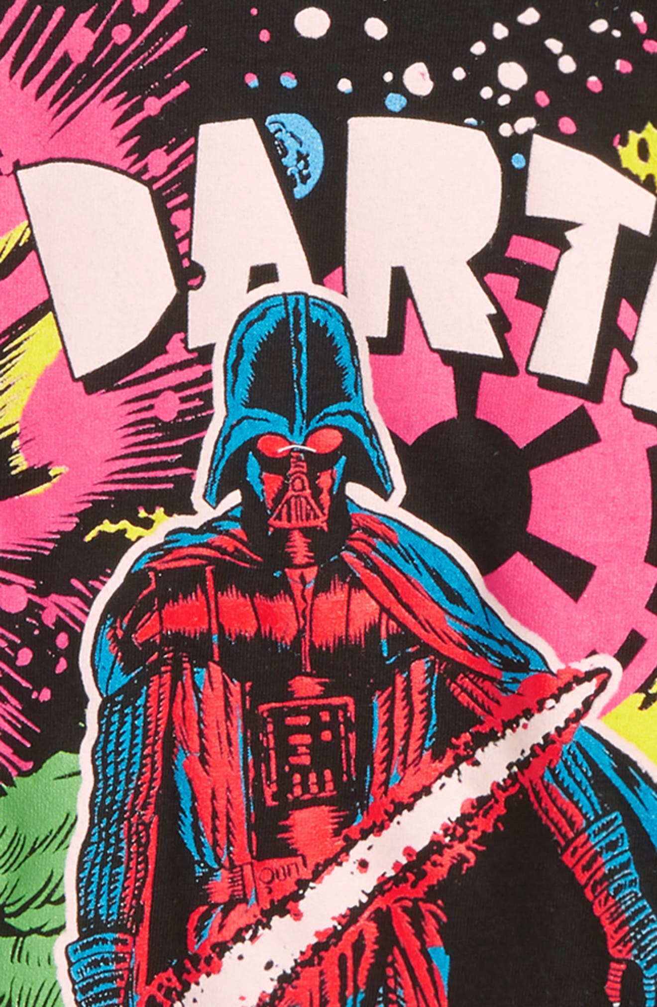 Star Wars<sup>™</sup> Vader in Space Graphic T-Shirt,                             Alternate thumbnail 2, color,                             Black
