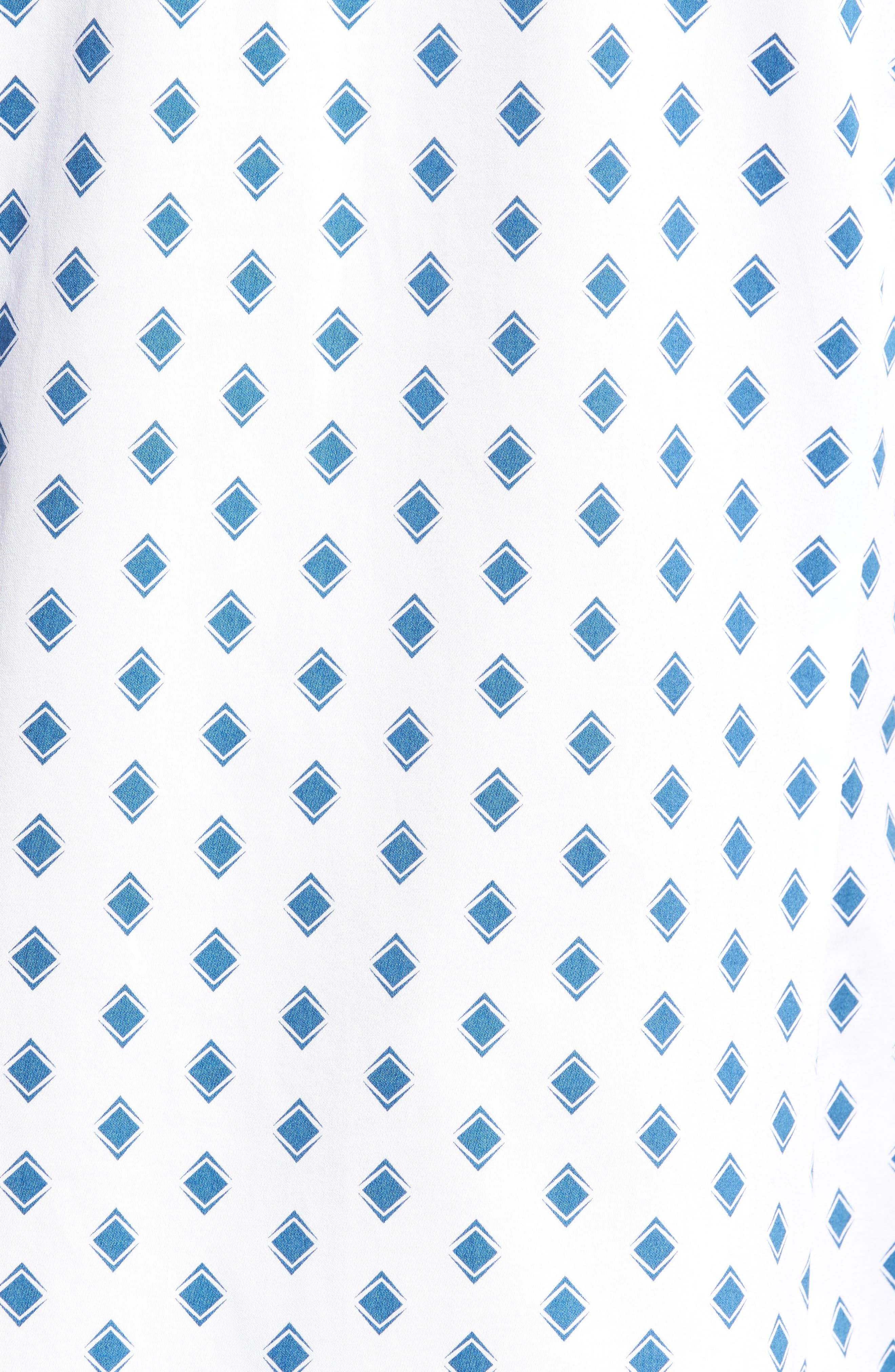Sineral Trim Fit Short Sleeve Sport Shirt,                             Alternate thumbnail 5, color,                             White