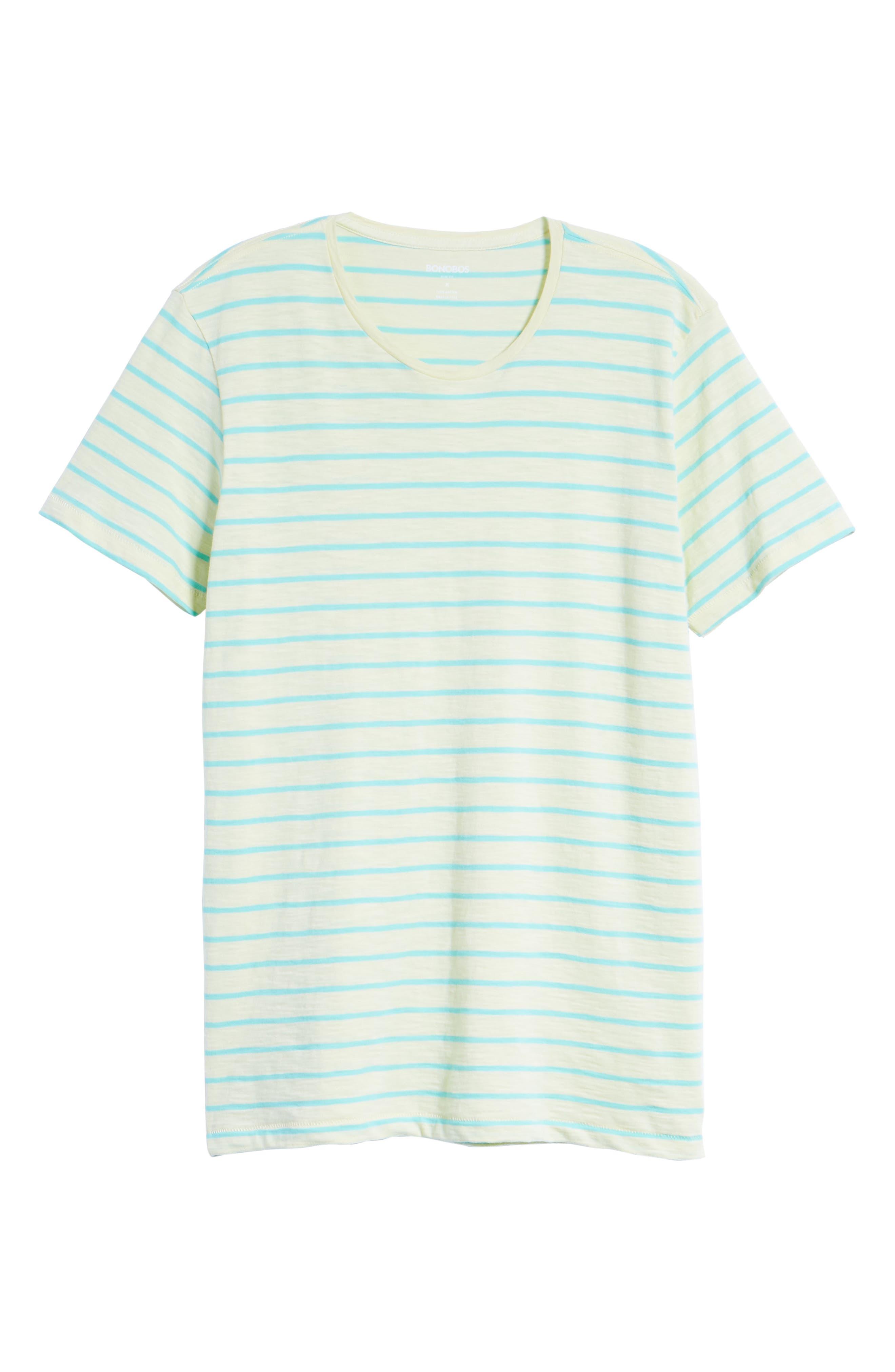 Stripe T-Shirt,                             Alternate thumbnail 6, color,                             Cactus Stripe