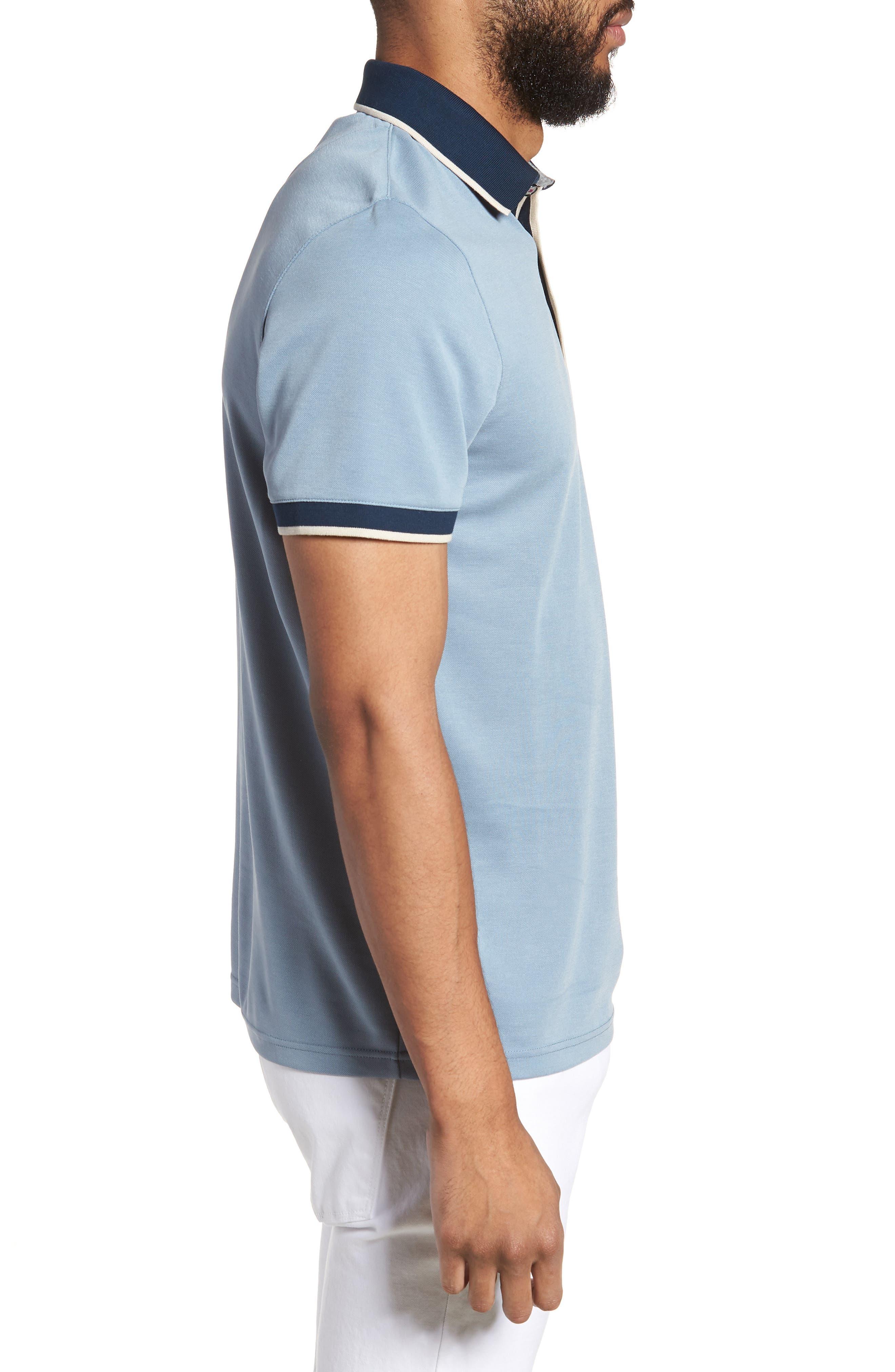 Howl Trim Fit Polo Shirt,                             Alternate thumbnail 3, color,                             Blue