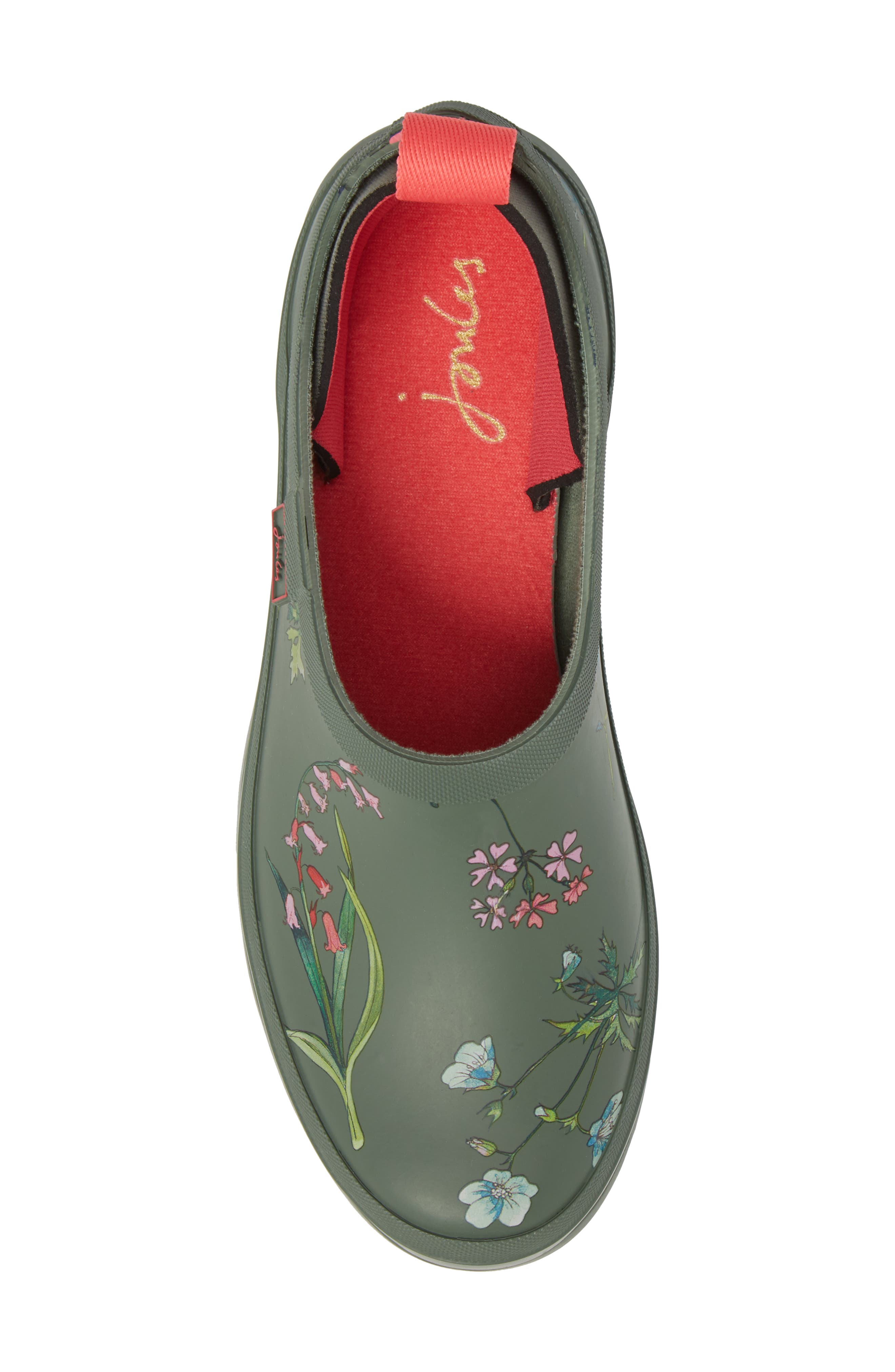 Rain Boot Clog,                             Alternate thumbnail 5, color,                             Laurel Botanical