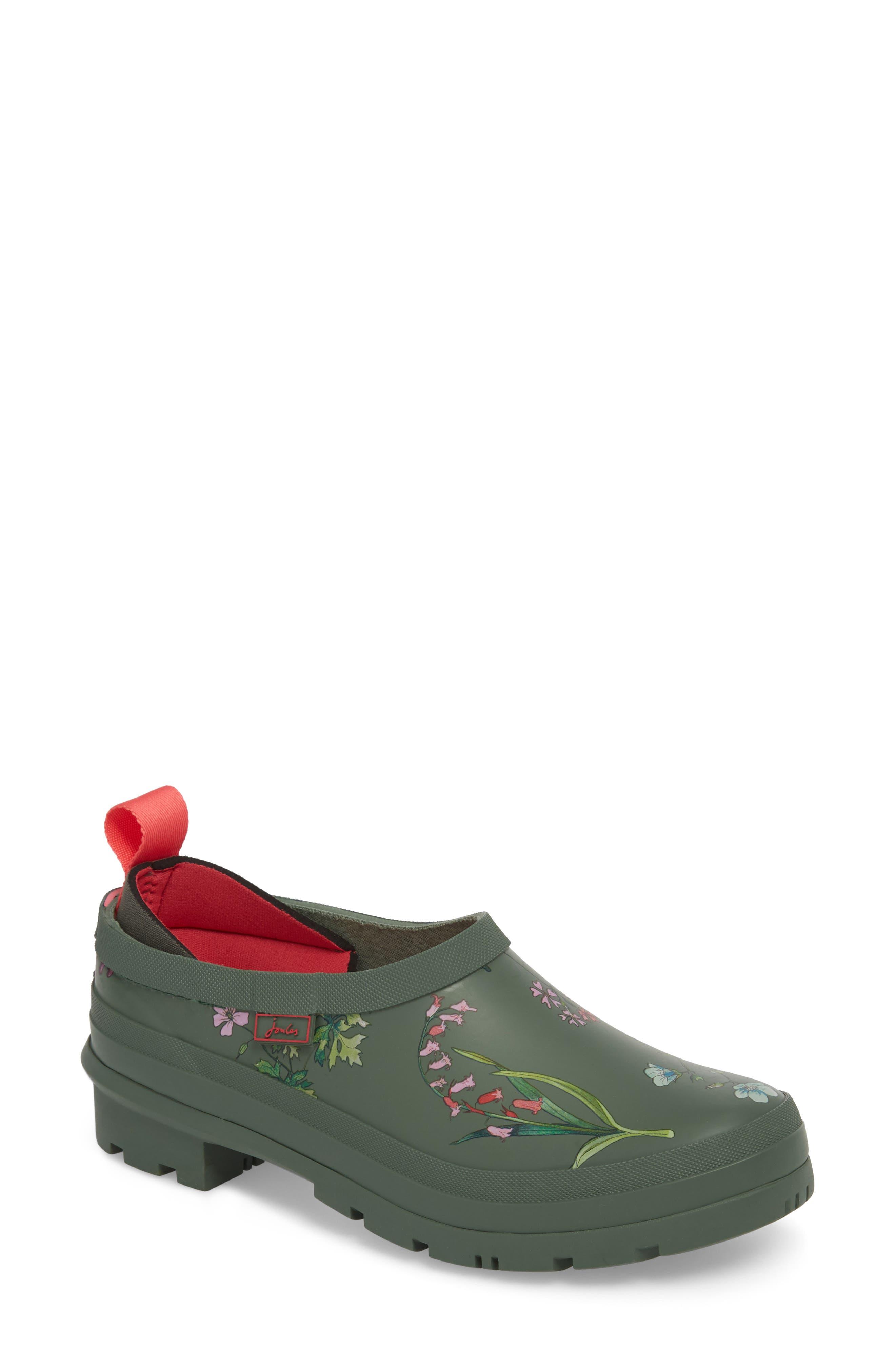 Rain Boot Clog,                             Main thumbnail 1, color,                             Laurel Botanical