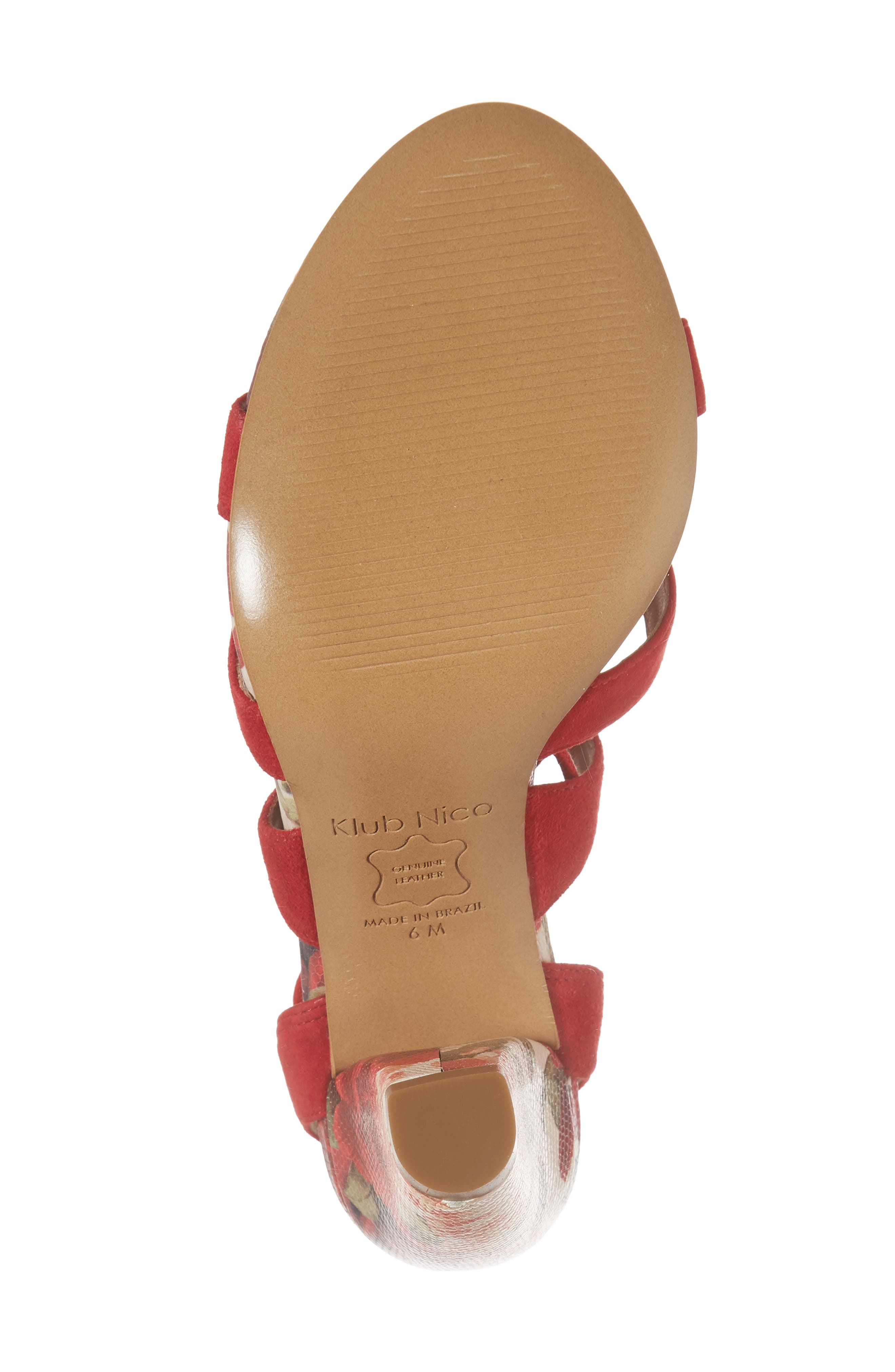Maxine Sandal,                             Alternate thumbnail 6, color,                             Red Suede