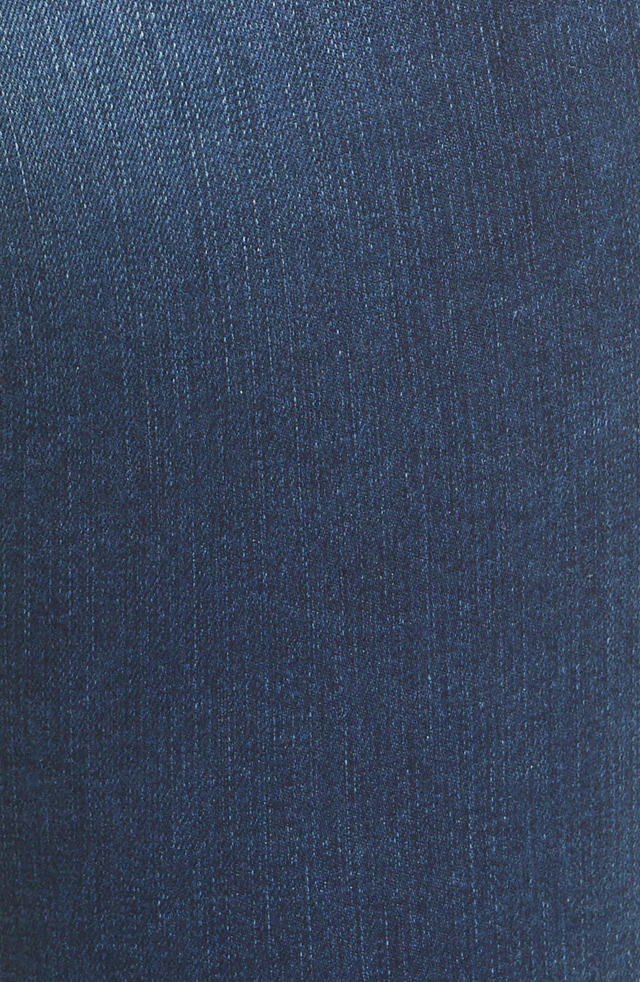 Le Skinny de Jeanne Raw Hem Crop Jeans,                             Alternate thumbnail 5, color,                             Cobbert Exclusive