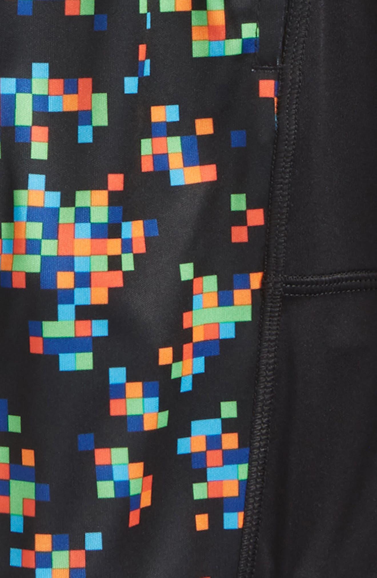 Digi Camo Stunt HeatGear<sup>®</sup> Shorts,                             Alternate thumbnail 2, color,                             Black