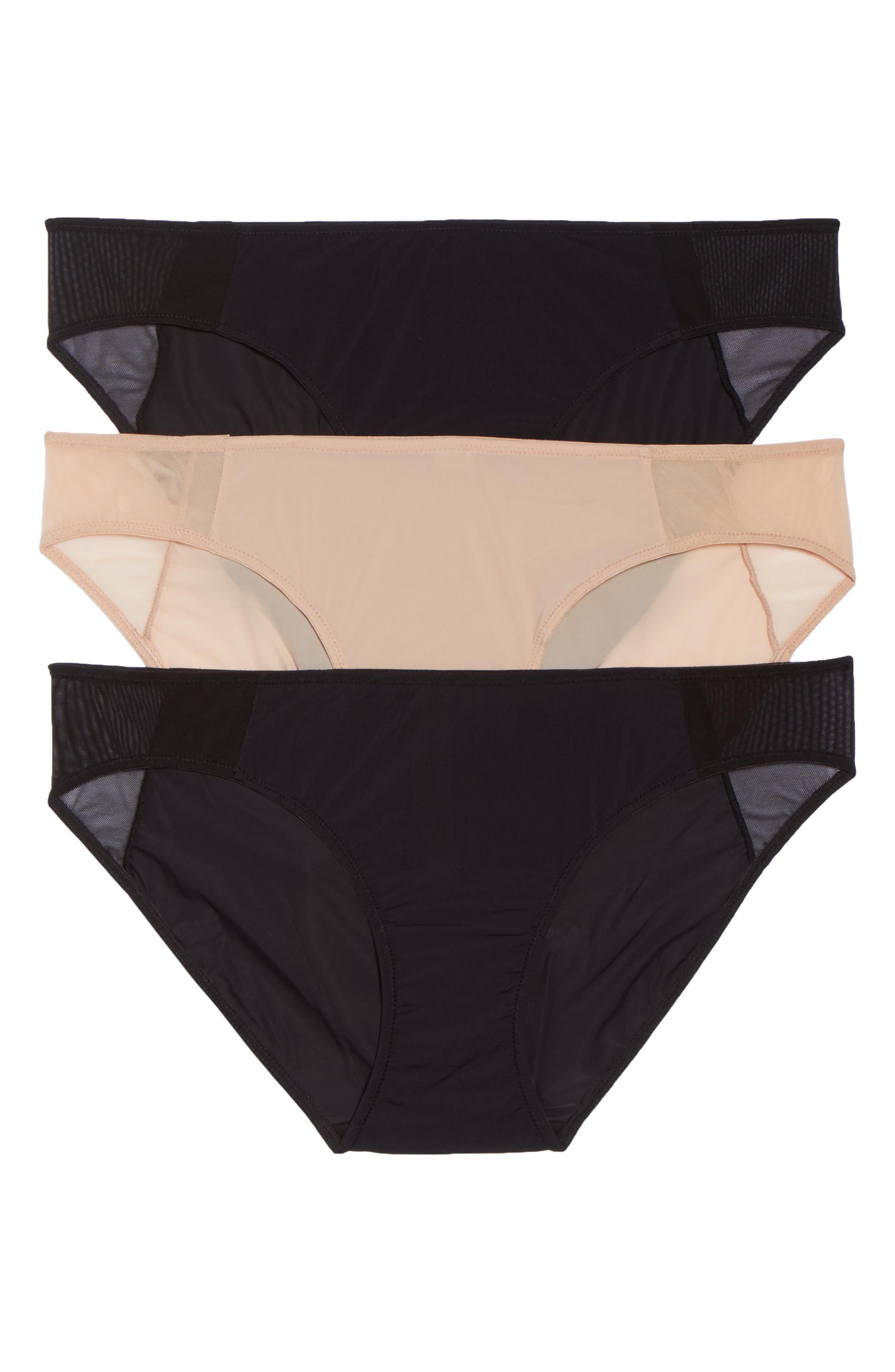 Skin 3-Pack Bikini,                         Main,                         color, Black Beige