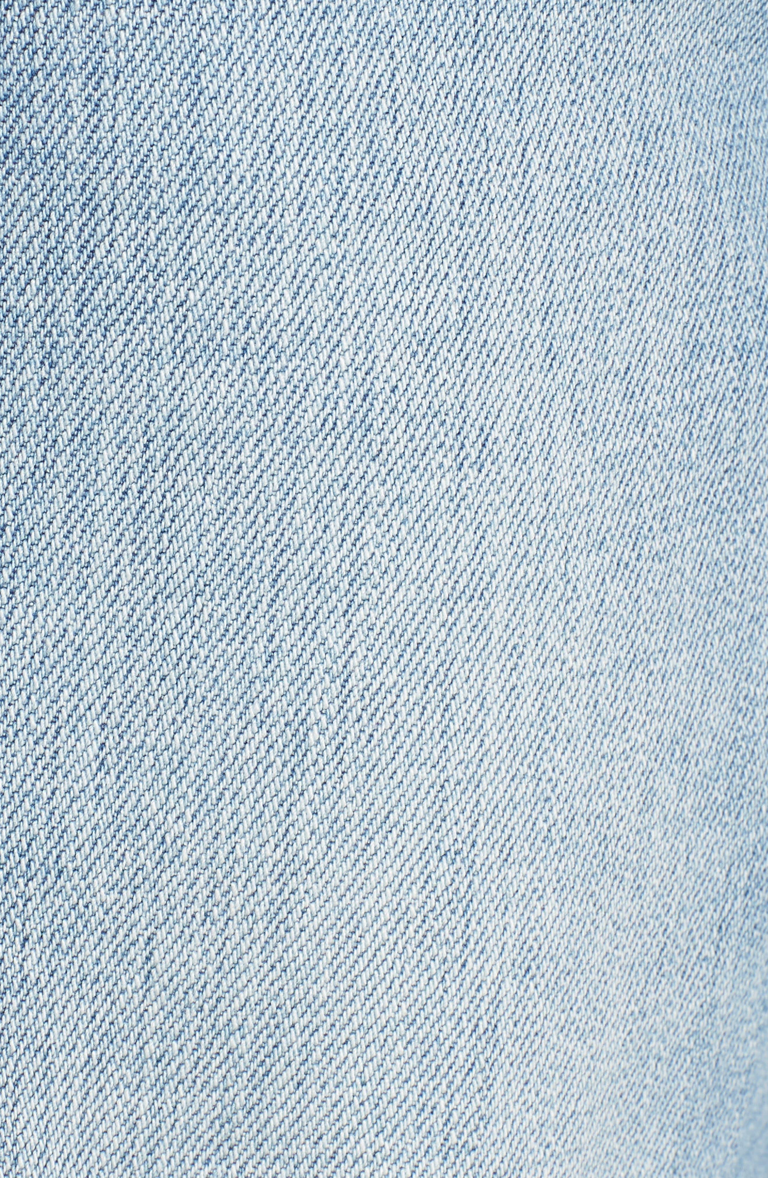 Wylie High Rise Distressed Bermuda Denim Shorts,                             Alternate thumbnail 6, color,                             Varnish
