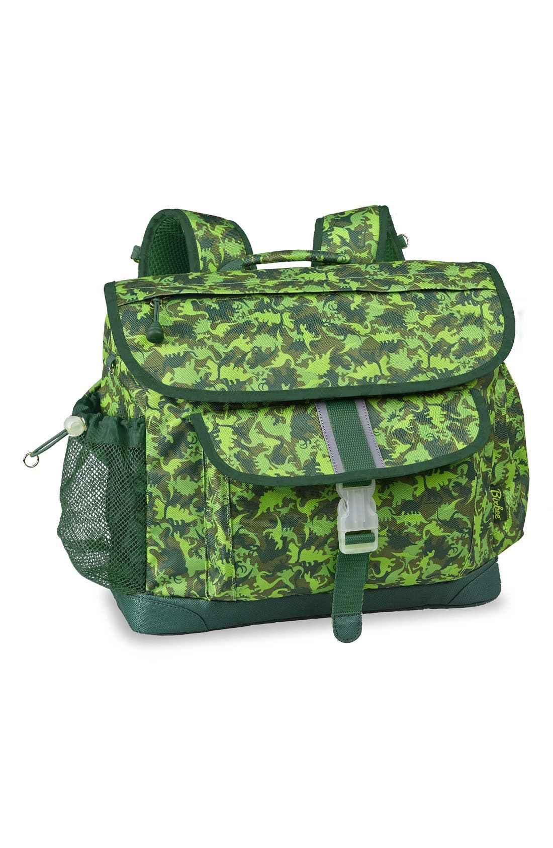 'Large Dino Camo' Water Resistant Backpack,                         Main,                         color, Green