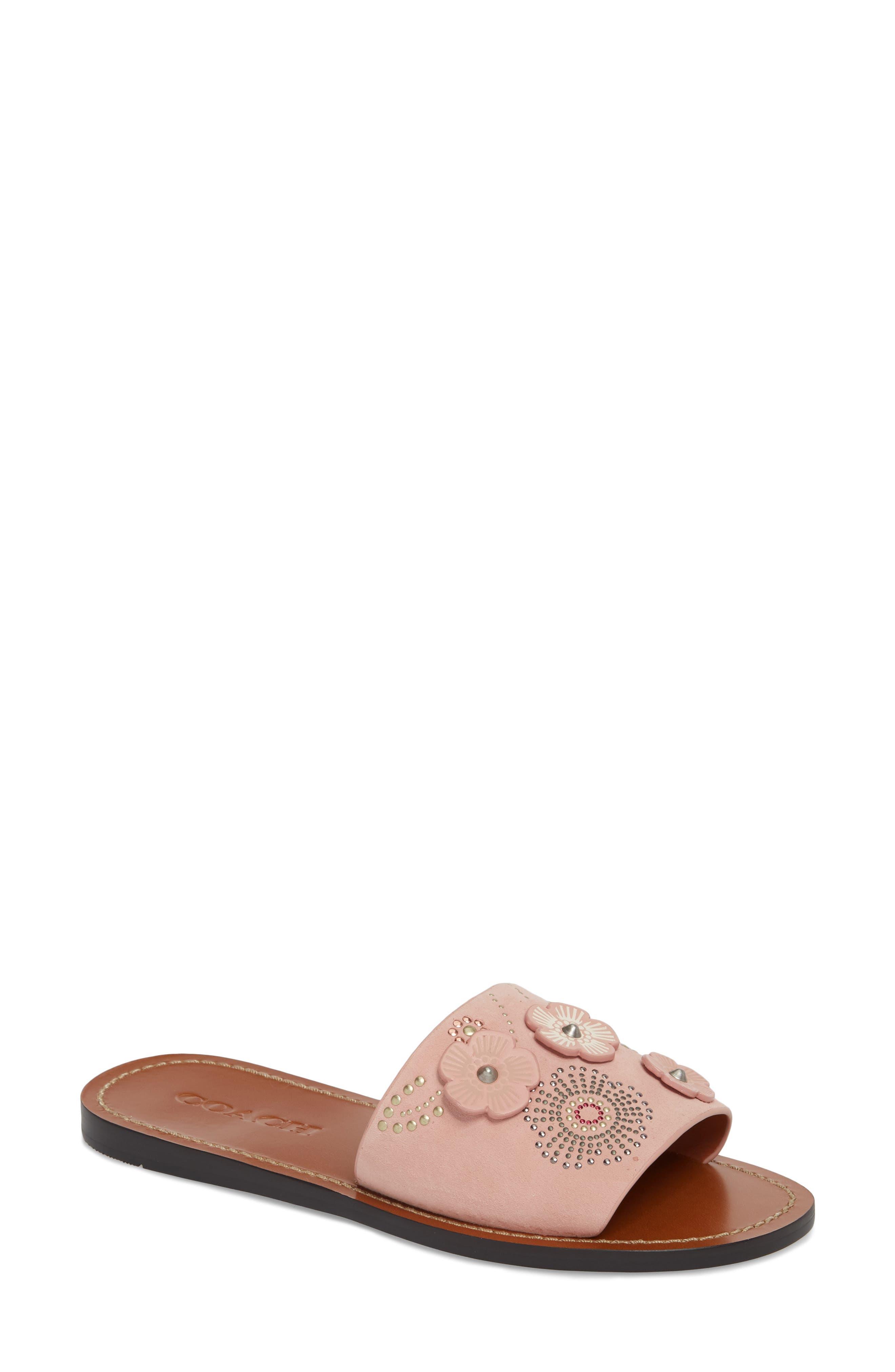 COACH Tea Rose Slide Sandal (Women)