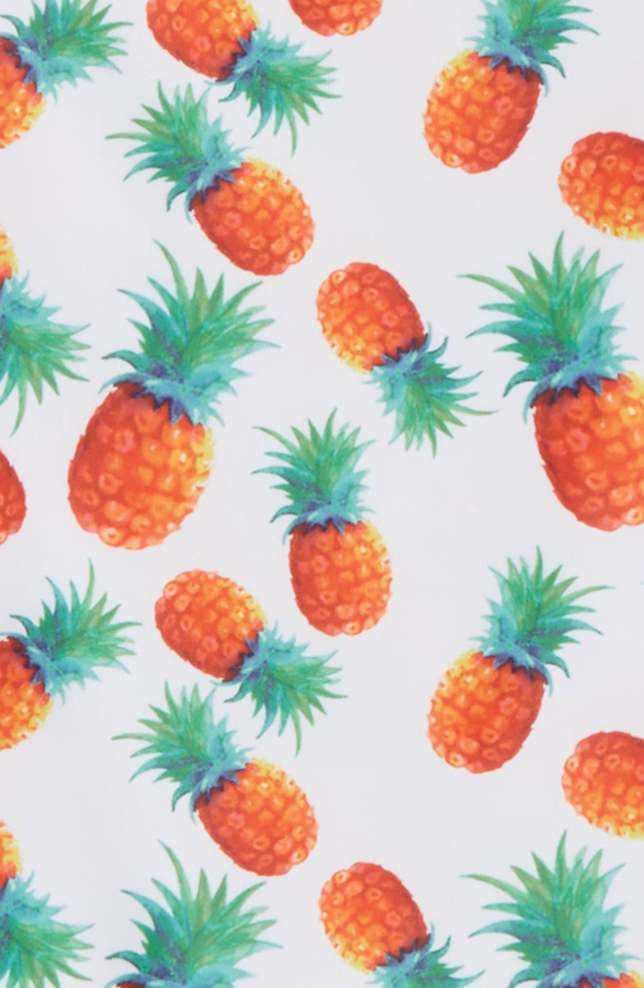 Alternate Image 2  - Sol Swim Pineapple Disco Two-Piece Rashguard Swimsuit (Toddler Girls & Little Girls)