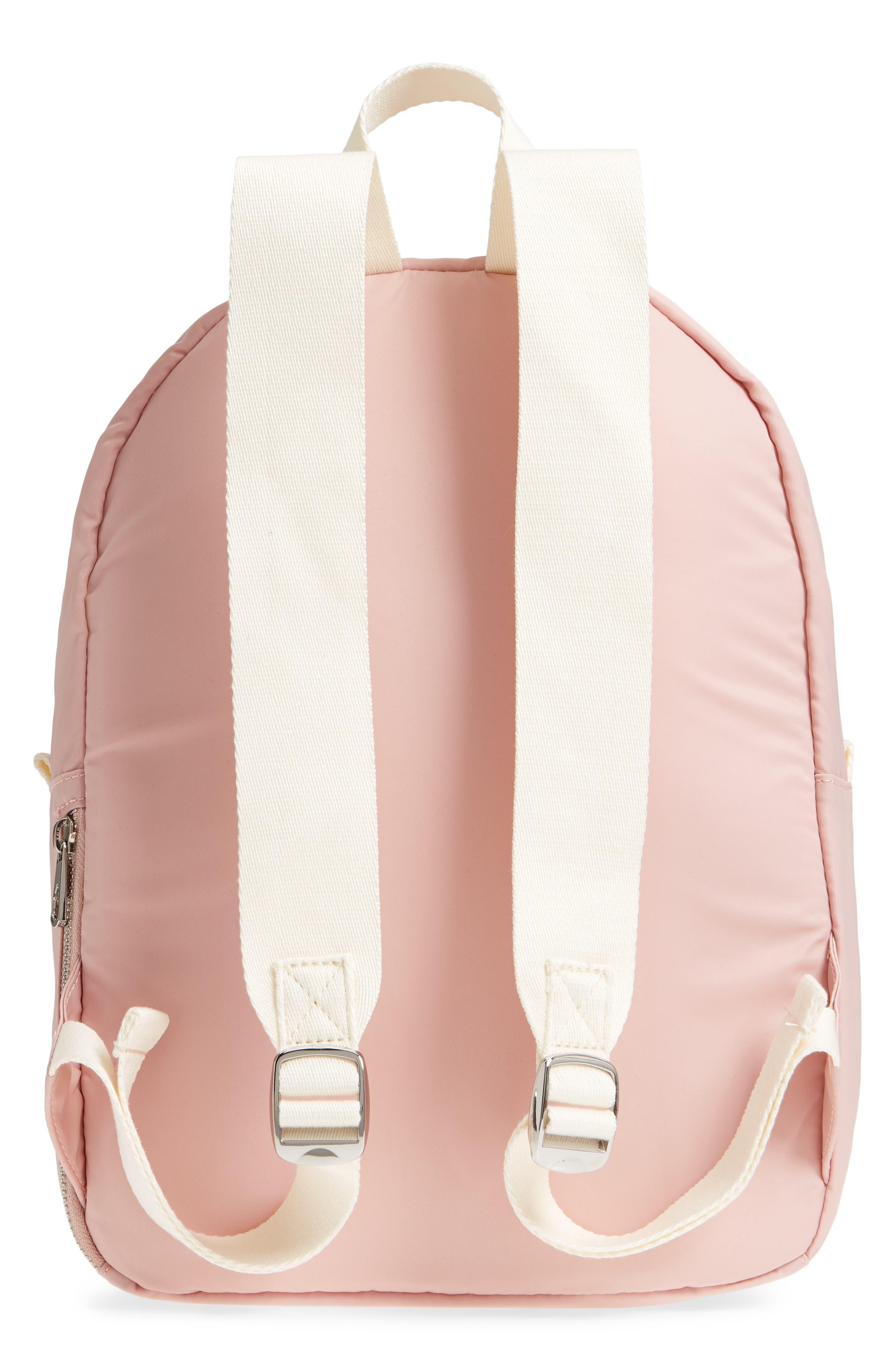 The Heights Mini Lorimer Nylon Backpack,                             Alternate thumbnail 3, color,                             Rose