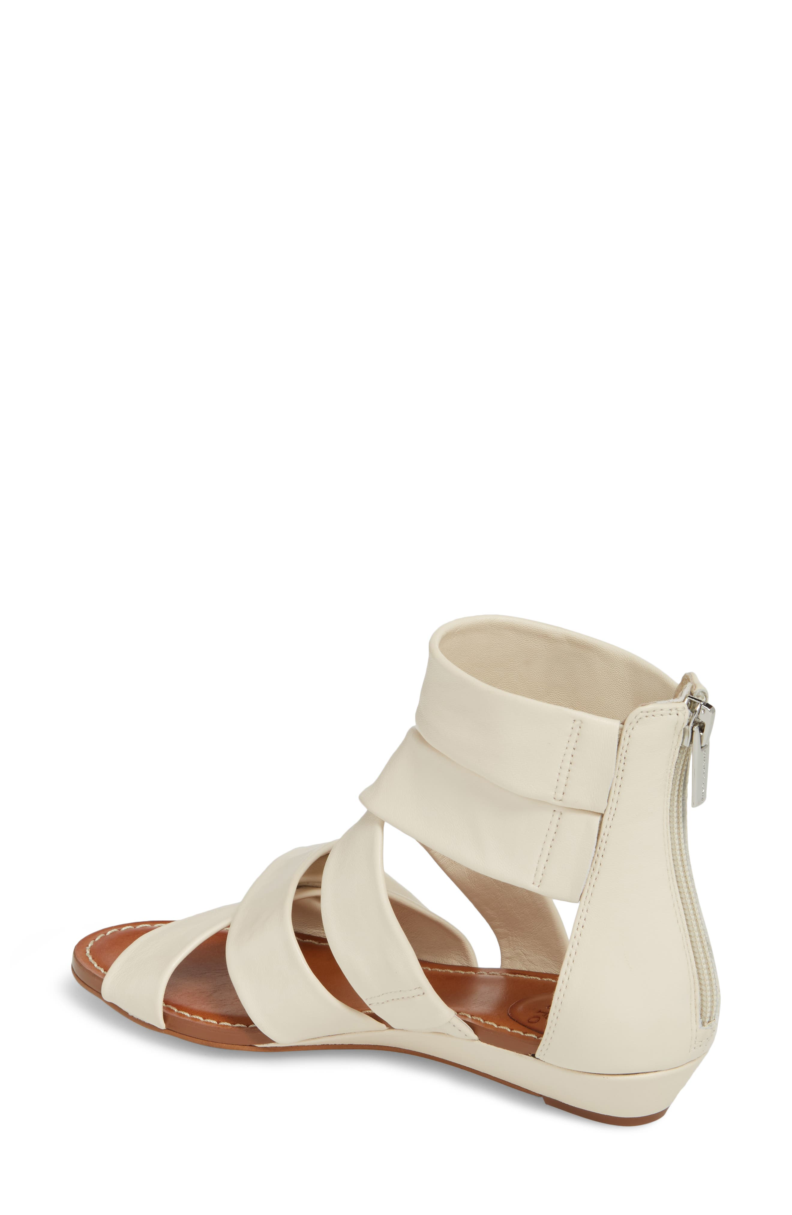 Seevina Low Wedge Sandal,                             Alternate thumbnail 2, color,                             Vanilla Leather