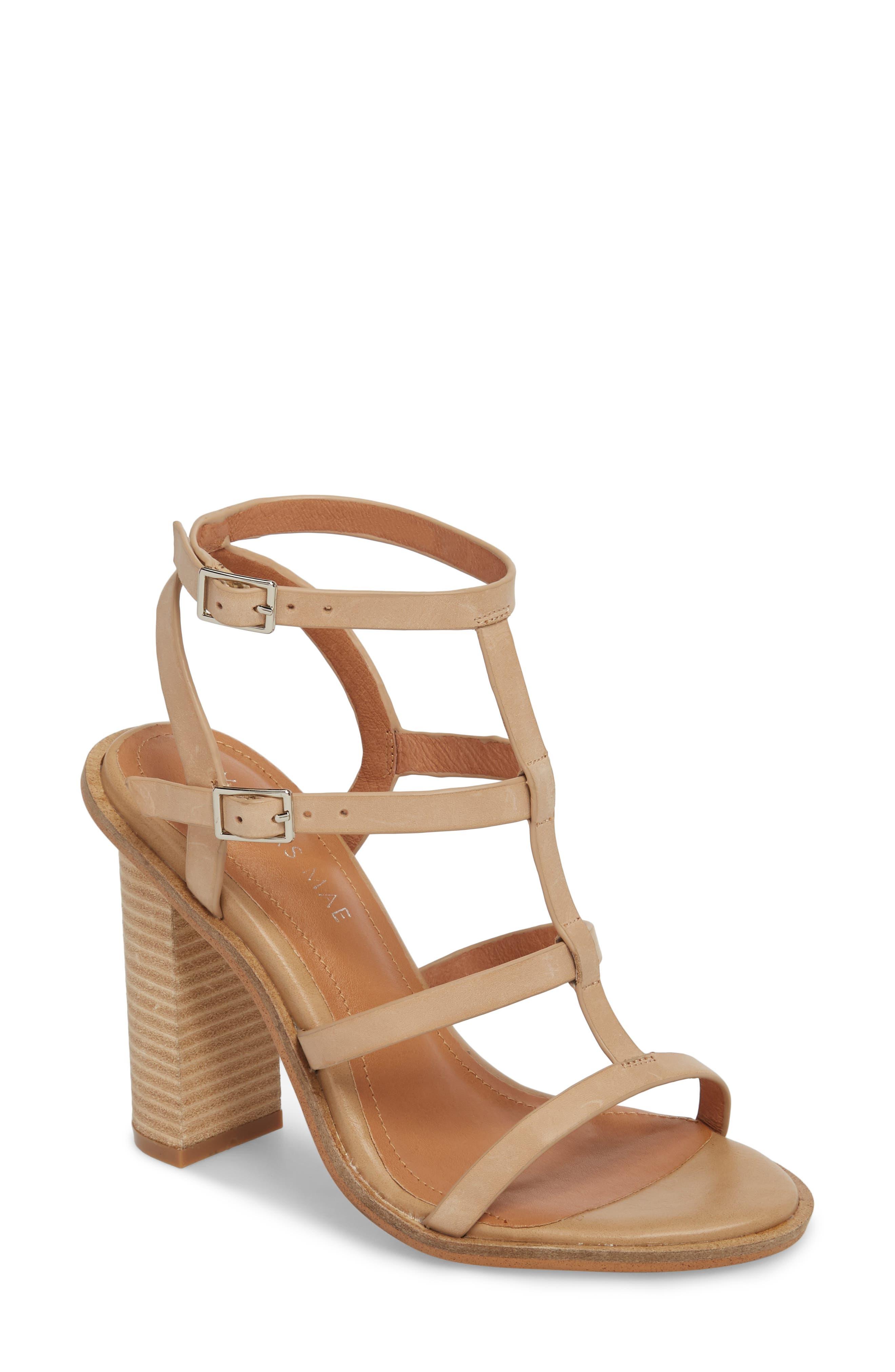 Adios Sandal,                         Main,                         color, Natural Leather