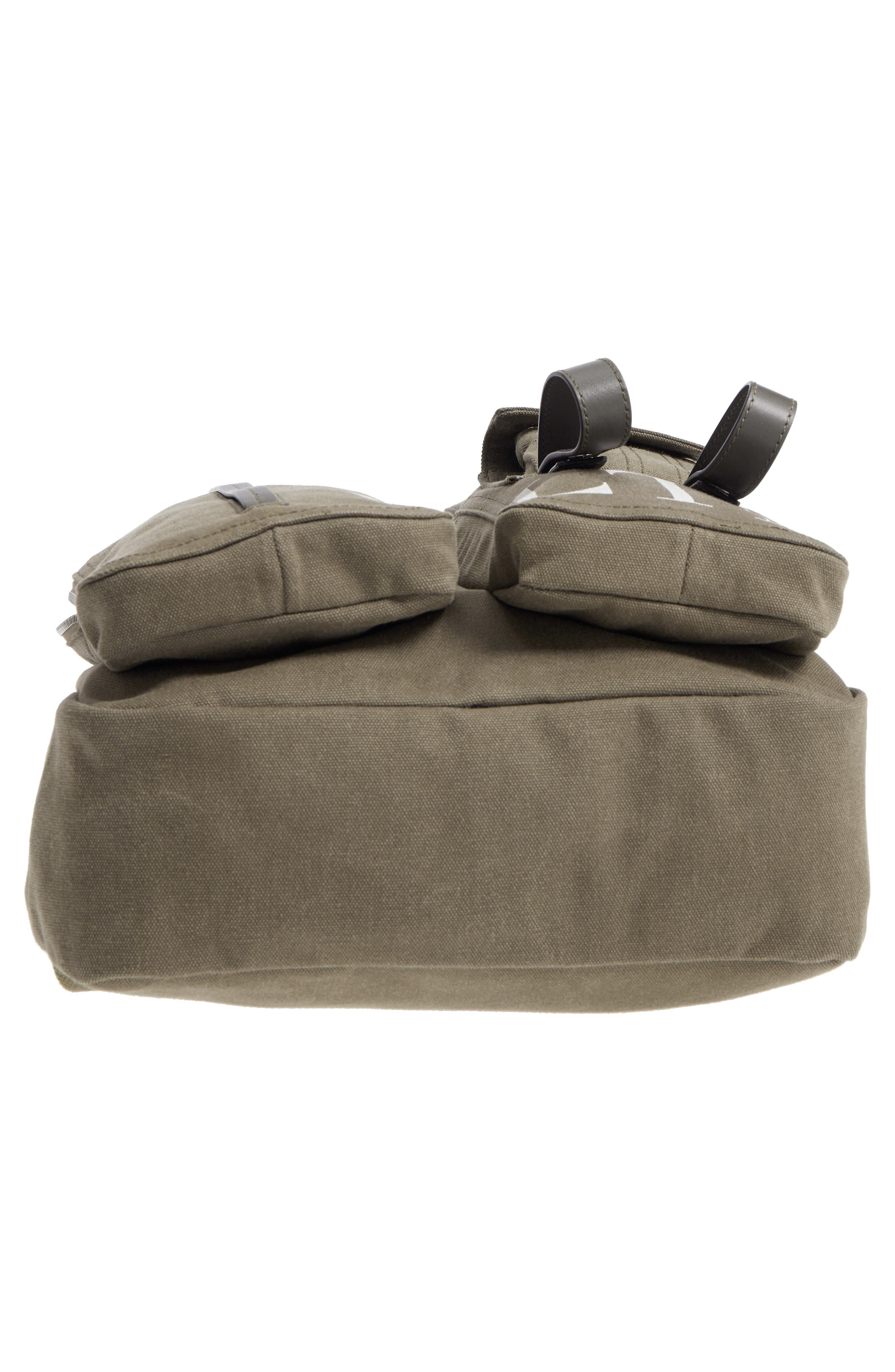 GARAVANI Canvas Military Backpack,                             Alternate thumbnail 6, color,                             L90 Olive