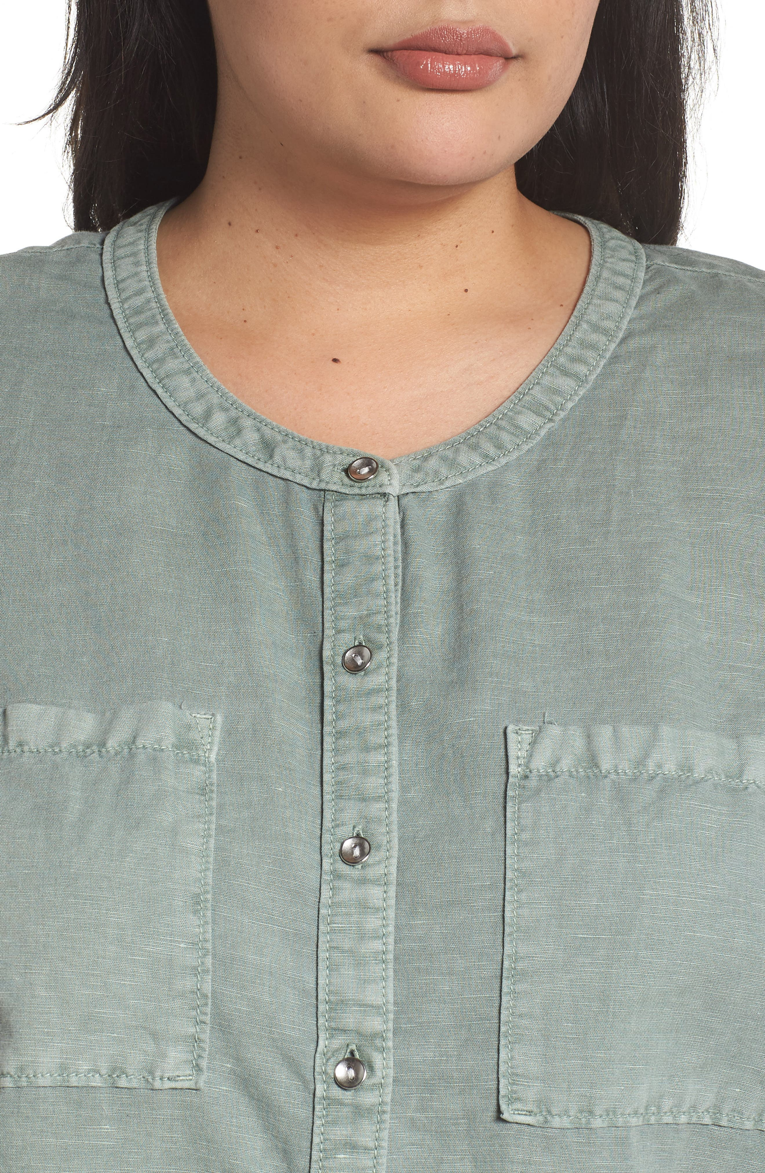 Long Sleeve Top,                             Alternate thumbnail 4, color,                             Green Lilypad